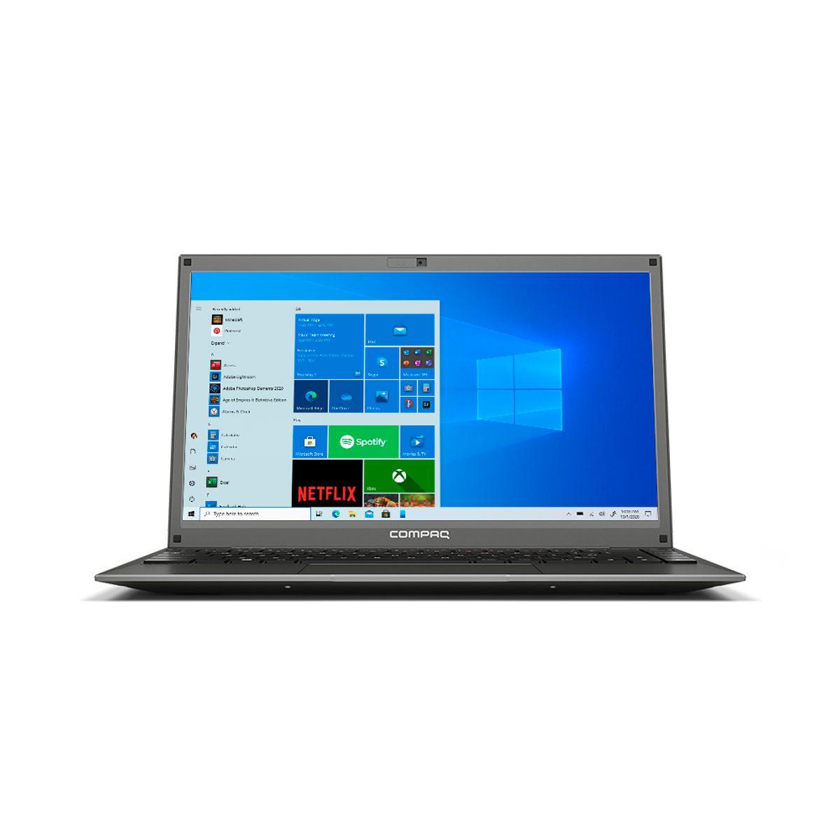 NOTEBOOK COMPAQ PRESARIO 420 INTEL PENTIUM-N3700, 4GB RAM, 120GB SSD, WINDOWS 10, 14,1? CINZA
