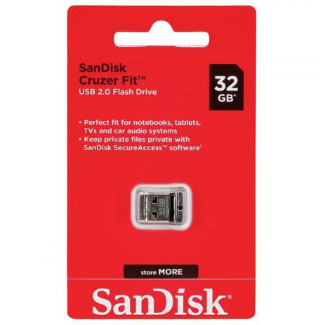 PEN DRIVE SANDISK 32GB CRUZER FIT