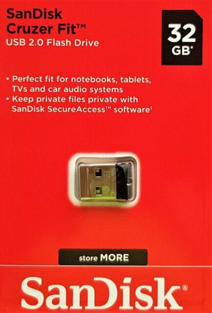 PEN DRIVE SANDISK CRUZER FIT 64GB, USB 2.0 FLASH DRIVE