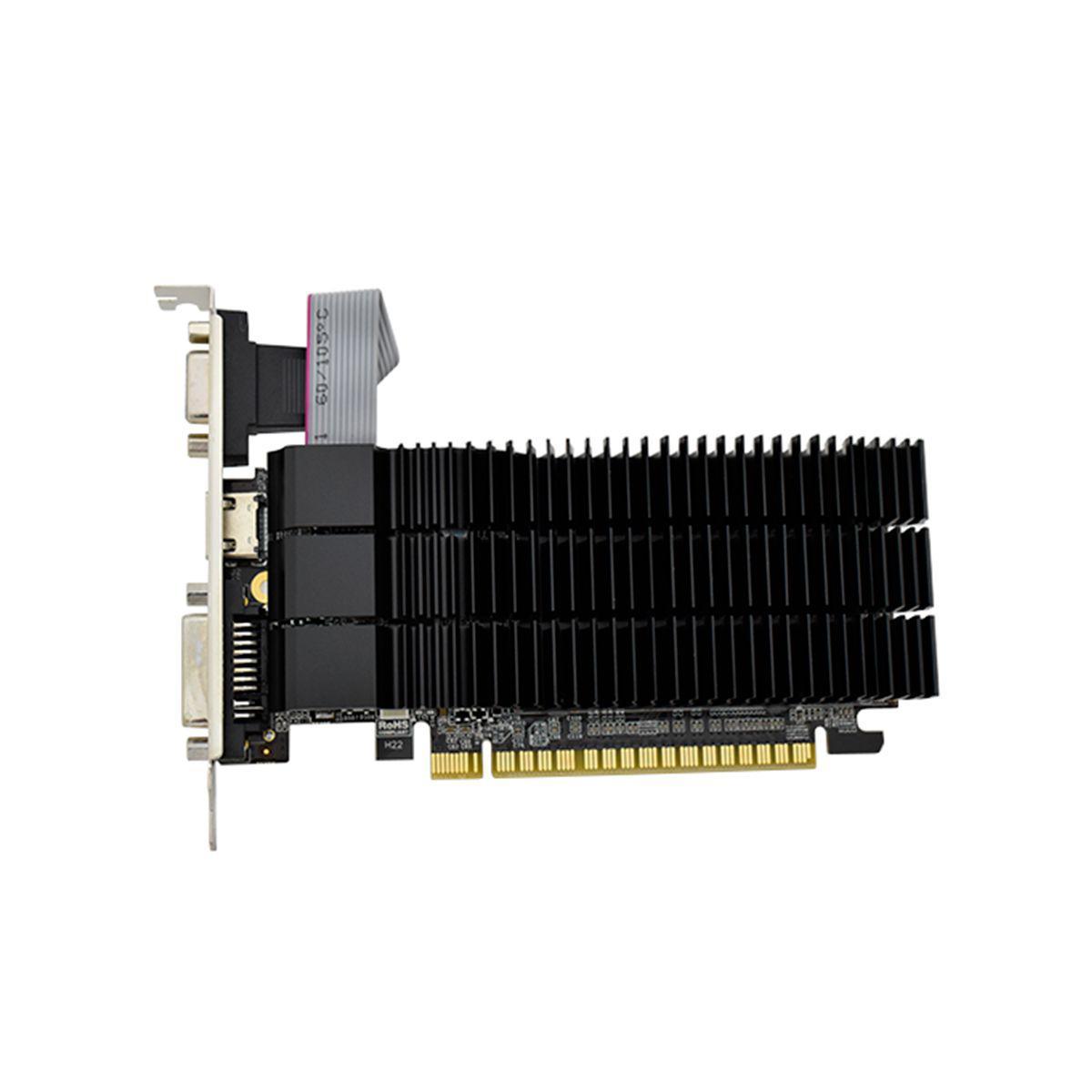 PLACA DE VIDEO AFOX GEFORCE G210 1GB DDR3 64 BITS - HDMI - DVI - VGA - AF210-1024D3L5-V2