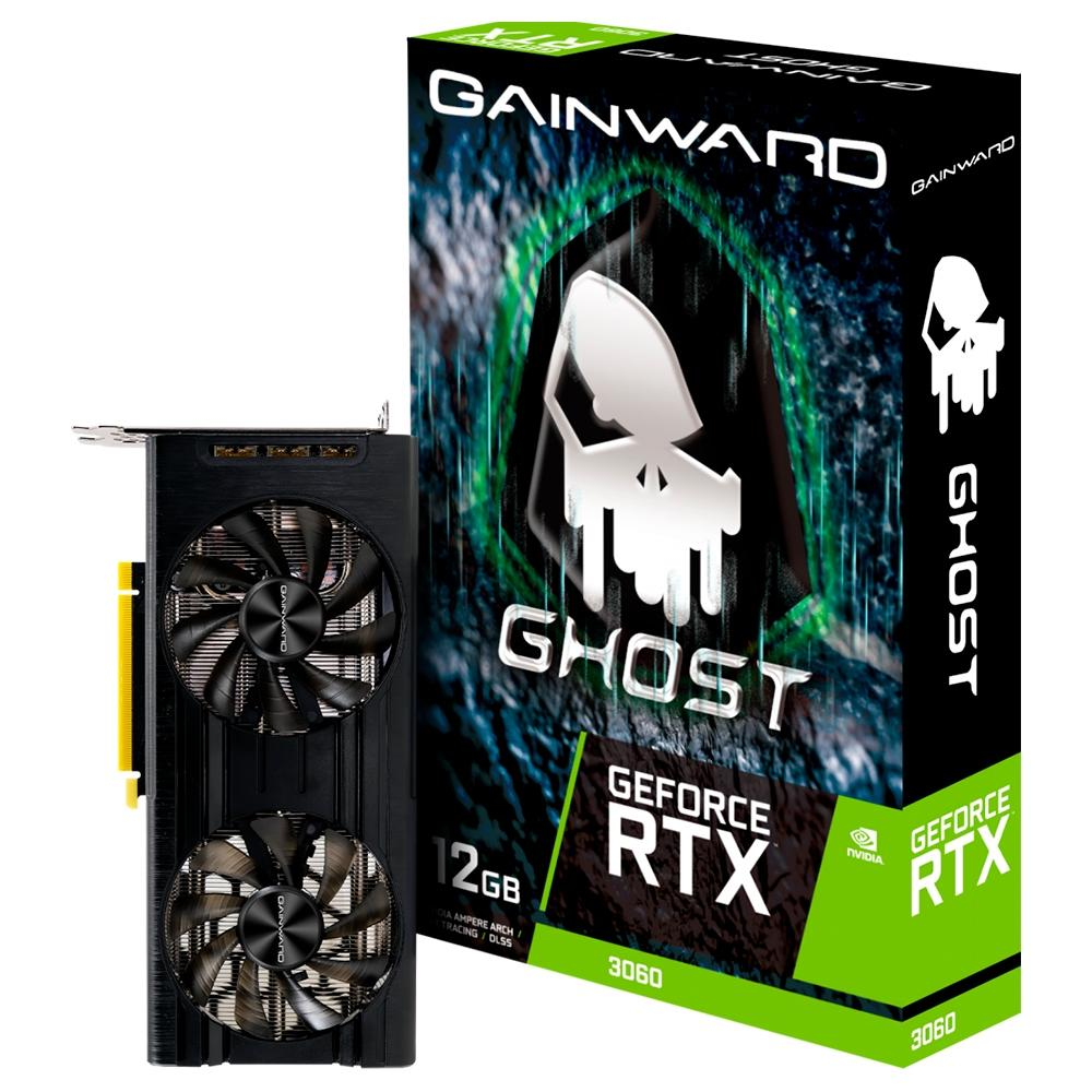 PLACA DE VIDEO GAINWARD NVIDIA GEFORCE RTX3060 GHOST, 12G, GDDR6 - NE63060T19K9-190AU