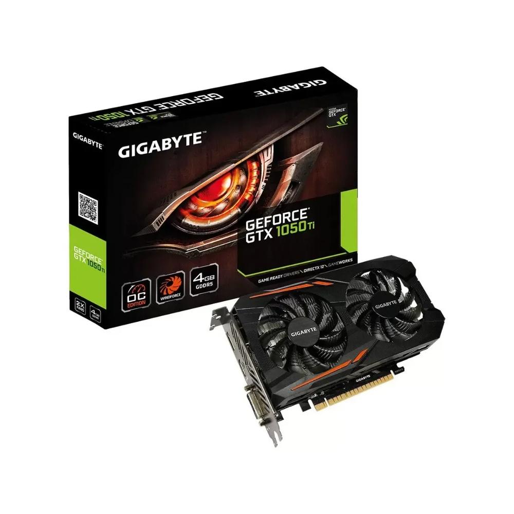 PLACA DE VIDEO GIGABYTE GTX 1050TI, 4GB, GDDR5 - GV-N105TD5-4GD