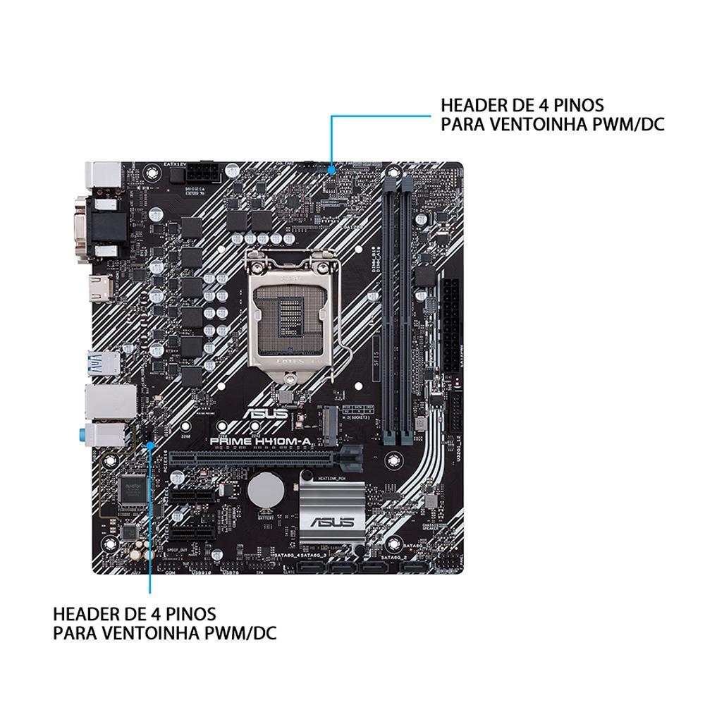 PLACA MAE ASUS PRIME H410M-E, LGA 1200, 10 GEN, 64GB, DDR4 - 90MB13H0-C1BAY0
