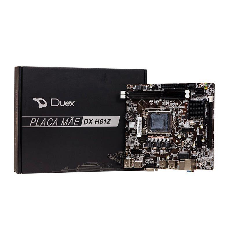 PLACA MÃE DUEX DX H61Z, DDR3, INTEL LGA 1155, CHIP SET H61