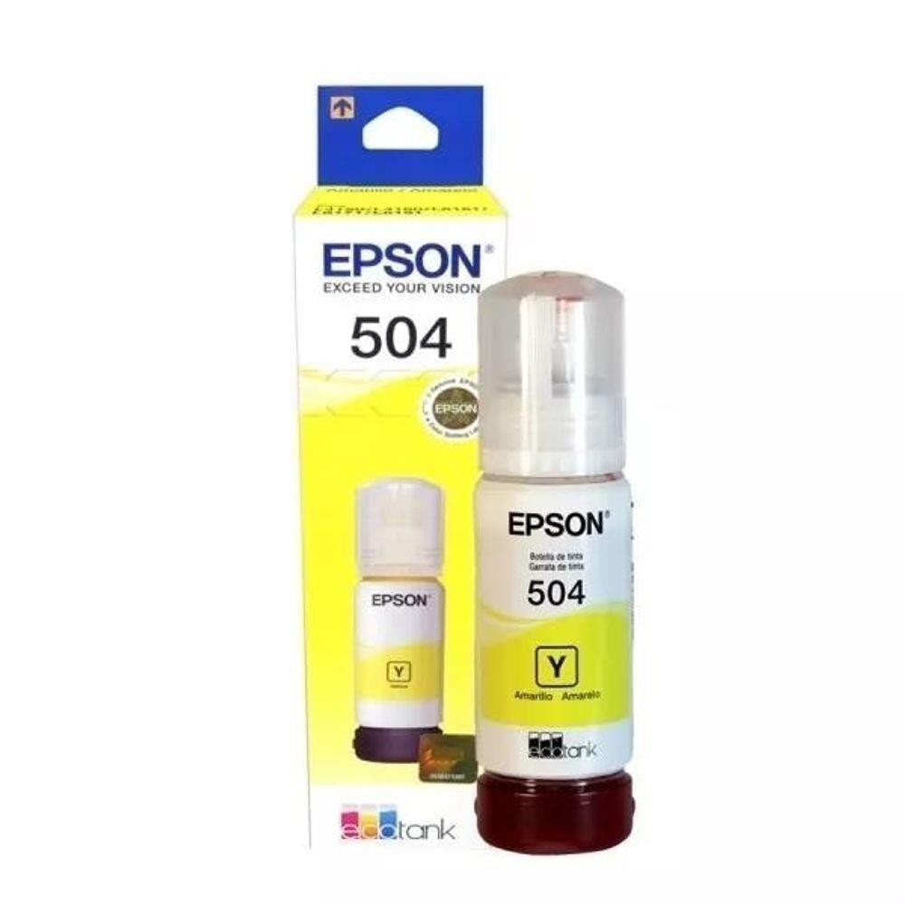 REFIL TANQUE DE TINTA EPSON T504 T504420-AL AMARELO L4150/60/617 70ML