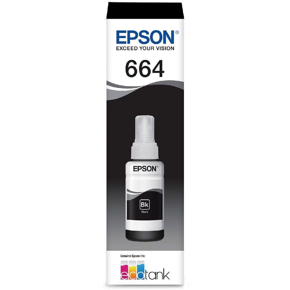 REFIL TANQUE DE TINTA EPSON T664 T664120AL PRETO L200  L355 L555 70ML