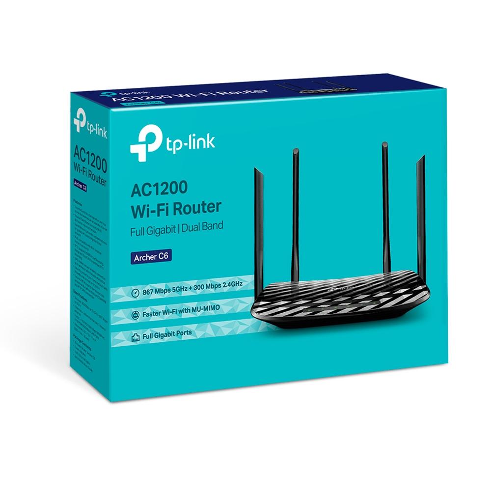 ROTEADOR TP-LINK C6 AC1200 867 MBPS 5GHZ + 300MBPS 2.4GHZ
