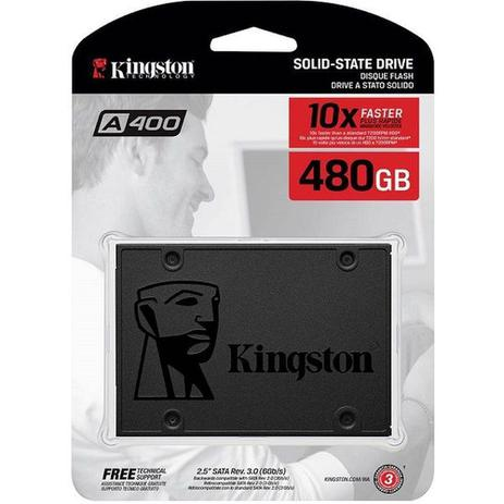 SSD KINGSTON 480GB SATA LEITURA 500MB/S - SA400S37/240G