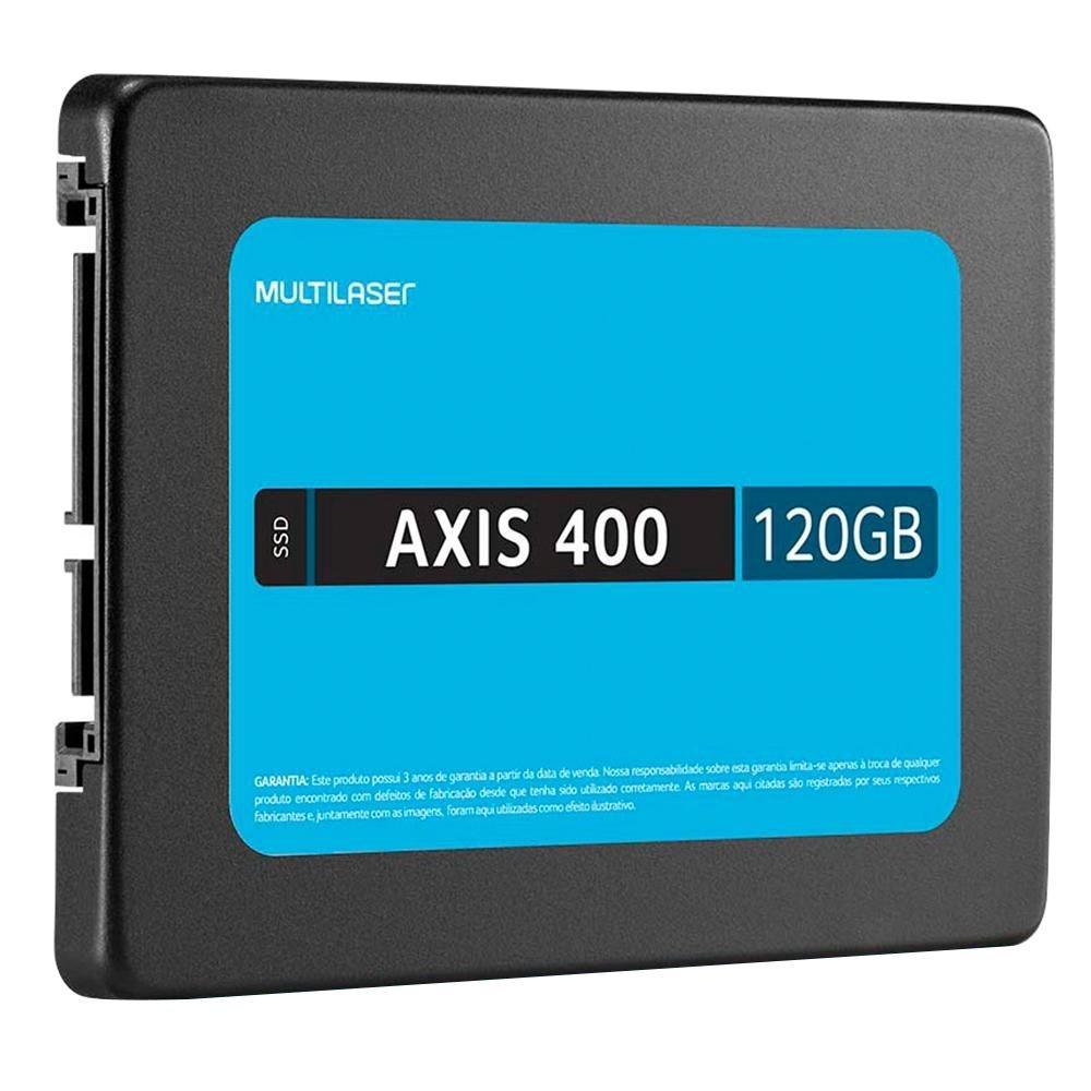 SSD MULTILASER 120GB, AXIS 400, SATA, GRAVAÇÃO 400 MB/S - SS101