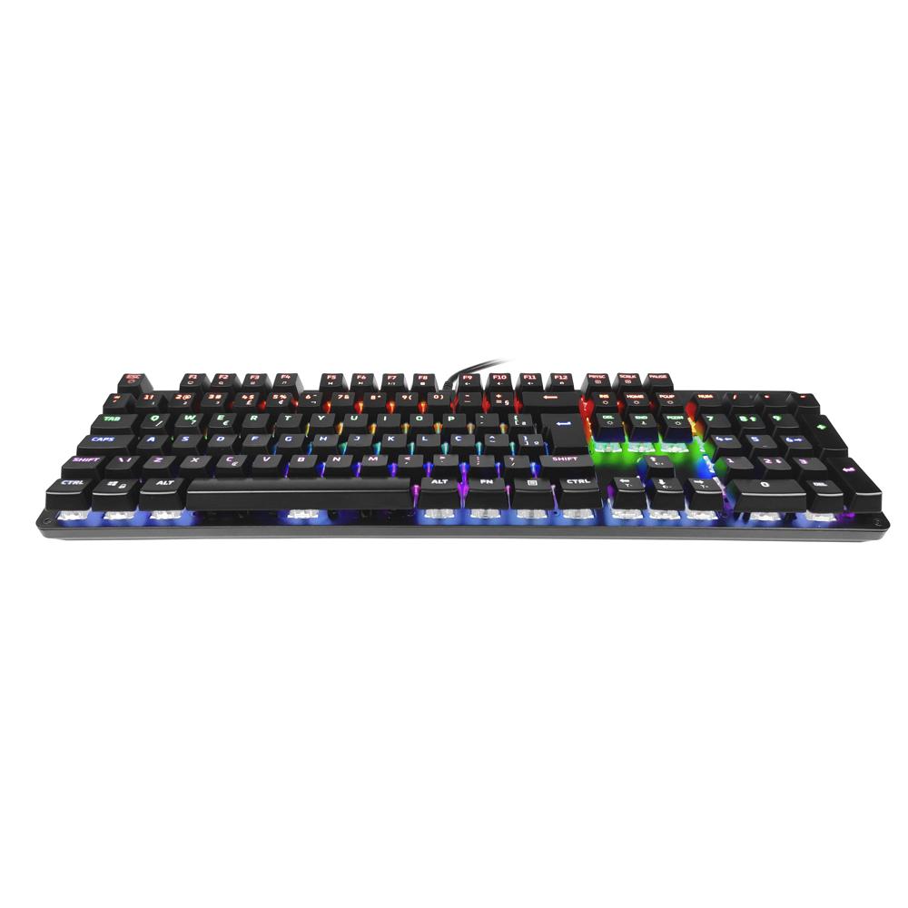 TECLADO GAMER MECANICO HP GK100, LED, PRETO, USB