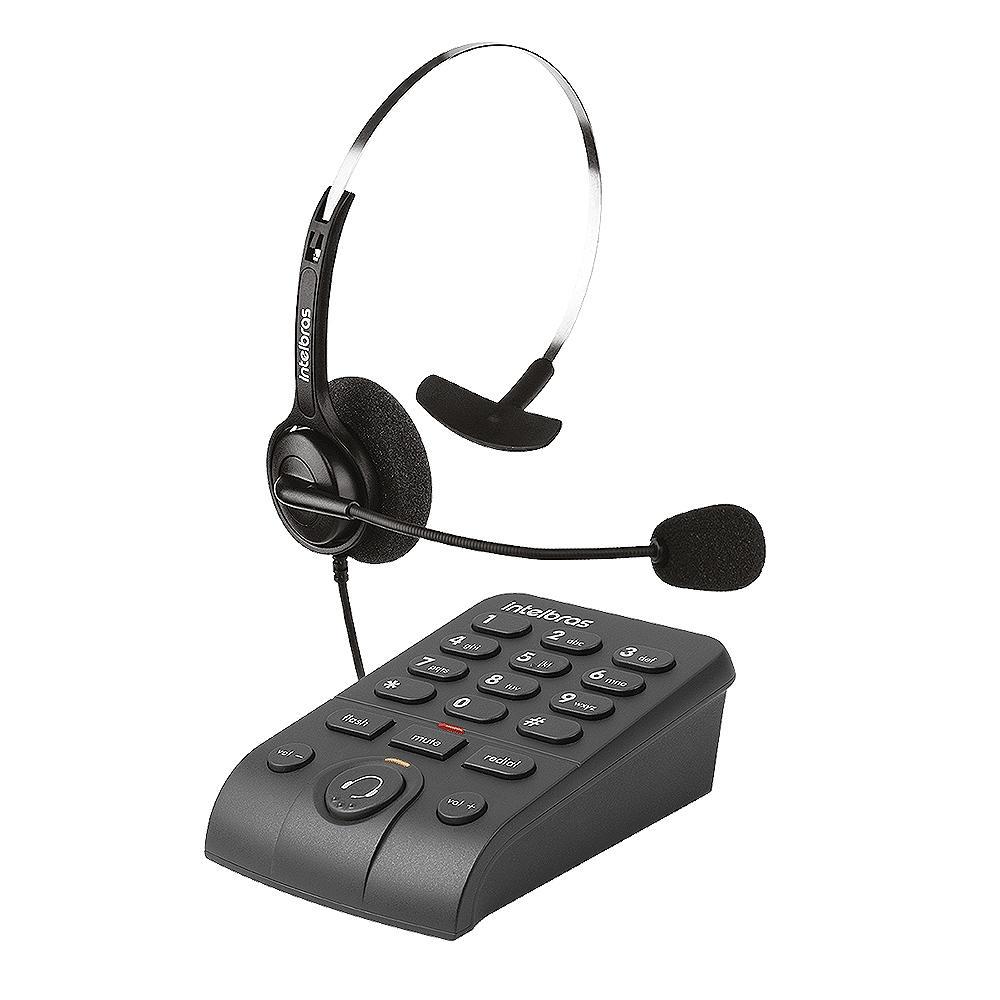 TELEFONE INTELBRAS HEADSET COM BASE DISCADORA HSB40