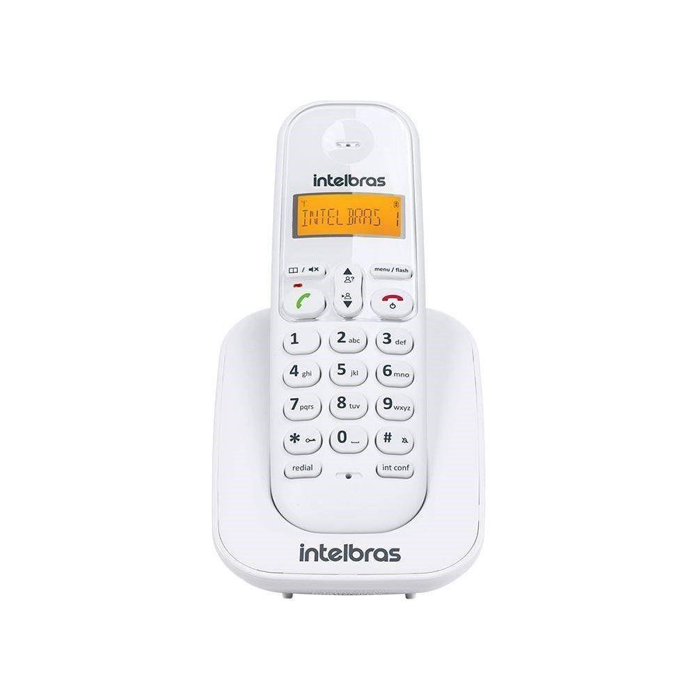 TELEFONE INTELBRAS SEM FIO TS 3111 RAMAL BRANCO - 4123001