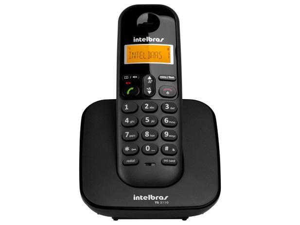 TELEFONE SEM FIO DIGITAL INTELBRAS PRETO - TS3110