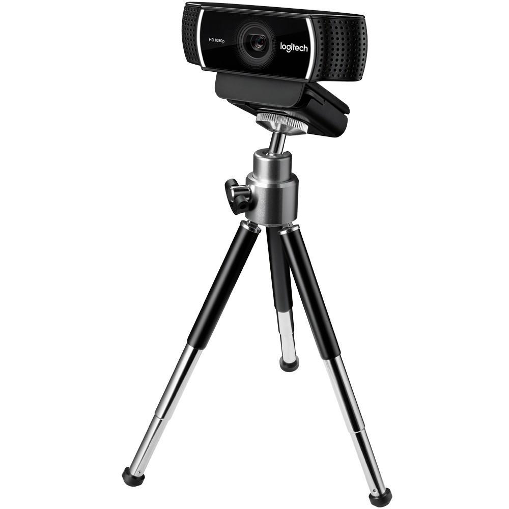 WEBCAM LOGITECH C922 PRO HD STREAM 1080P/30FPS COM MICROFONE E TRIPE