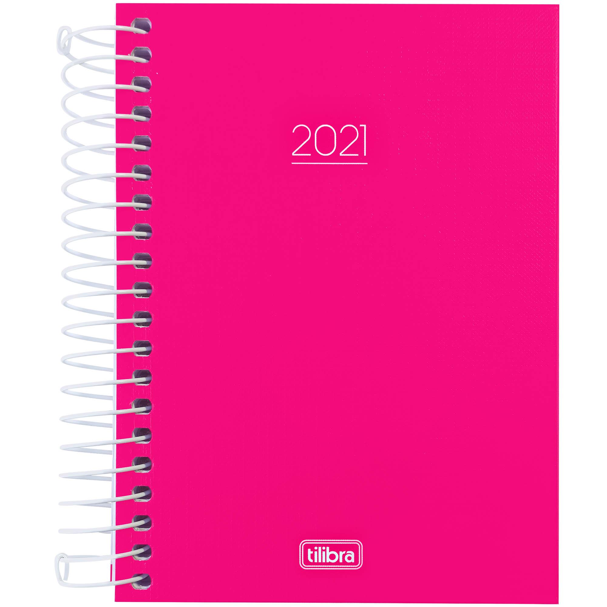 Agenda Pepper 2021 Espiral Cor Rosa CD 160f 29.109 - Tilibra