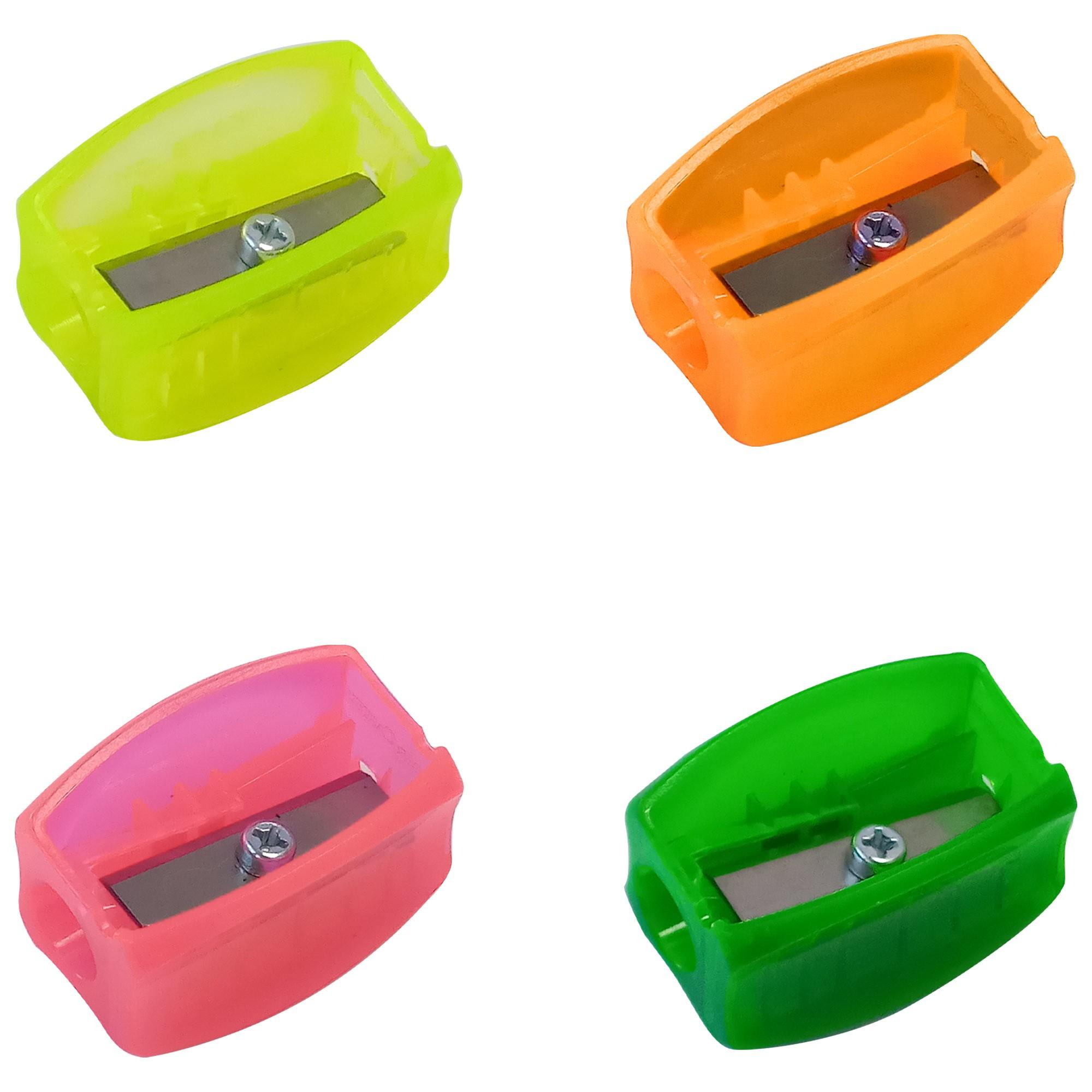 Apontador Classico S/ Bau Simples Cores Sortidas Neon - Faber Castell