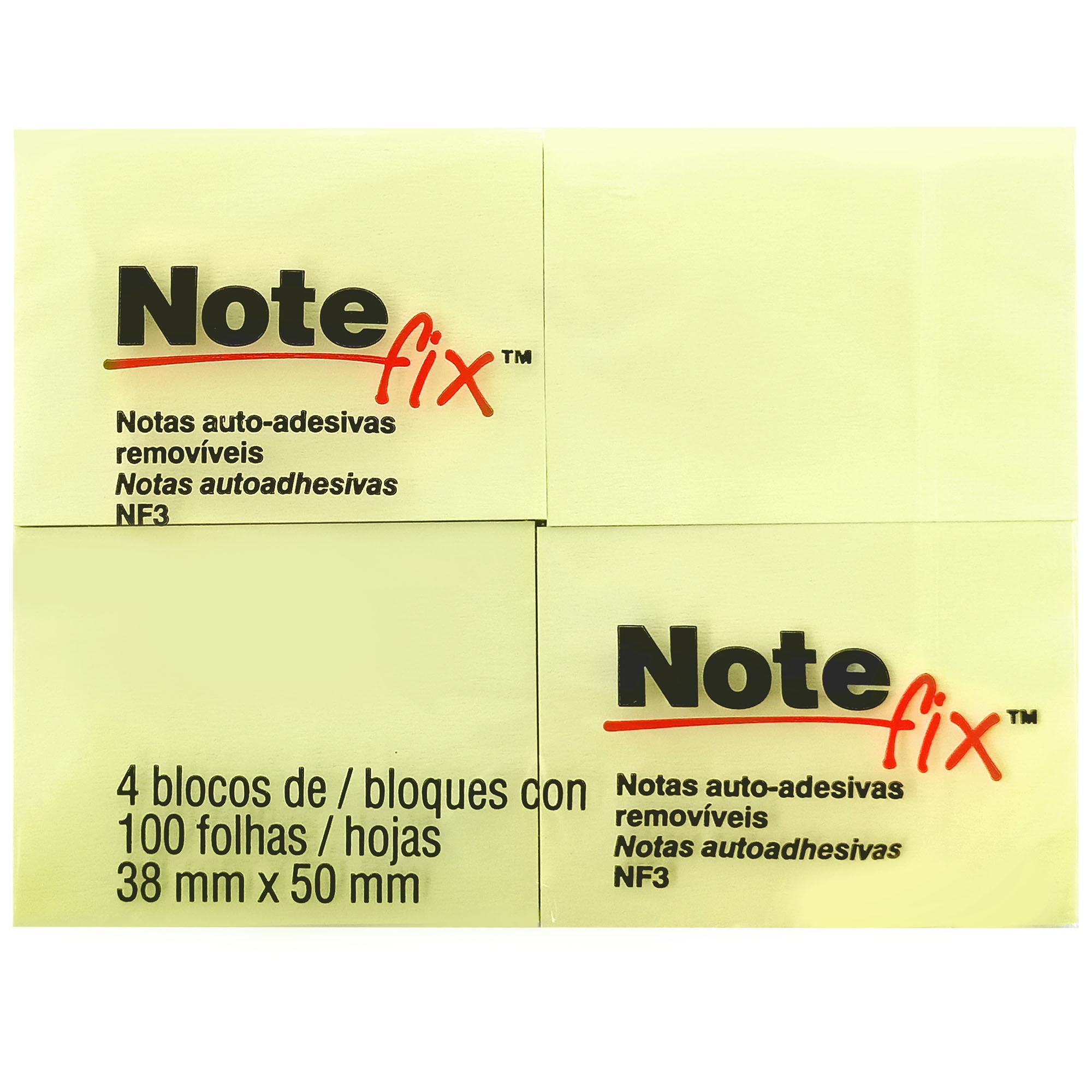 Bloco Autoadesivo Notefix 653 38MMX50MM 100FLS PCT.C/04 HB004088686 - 3M