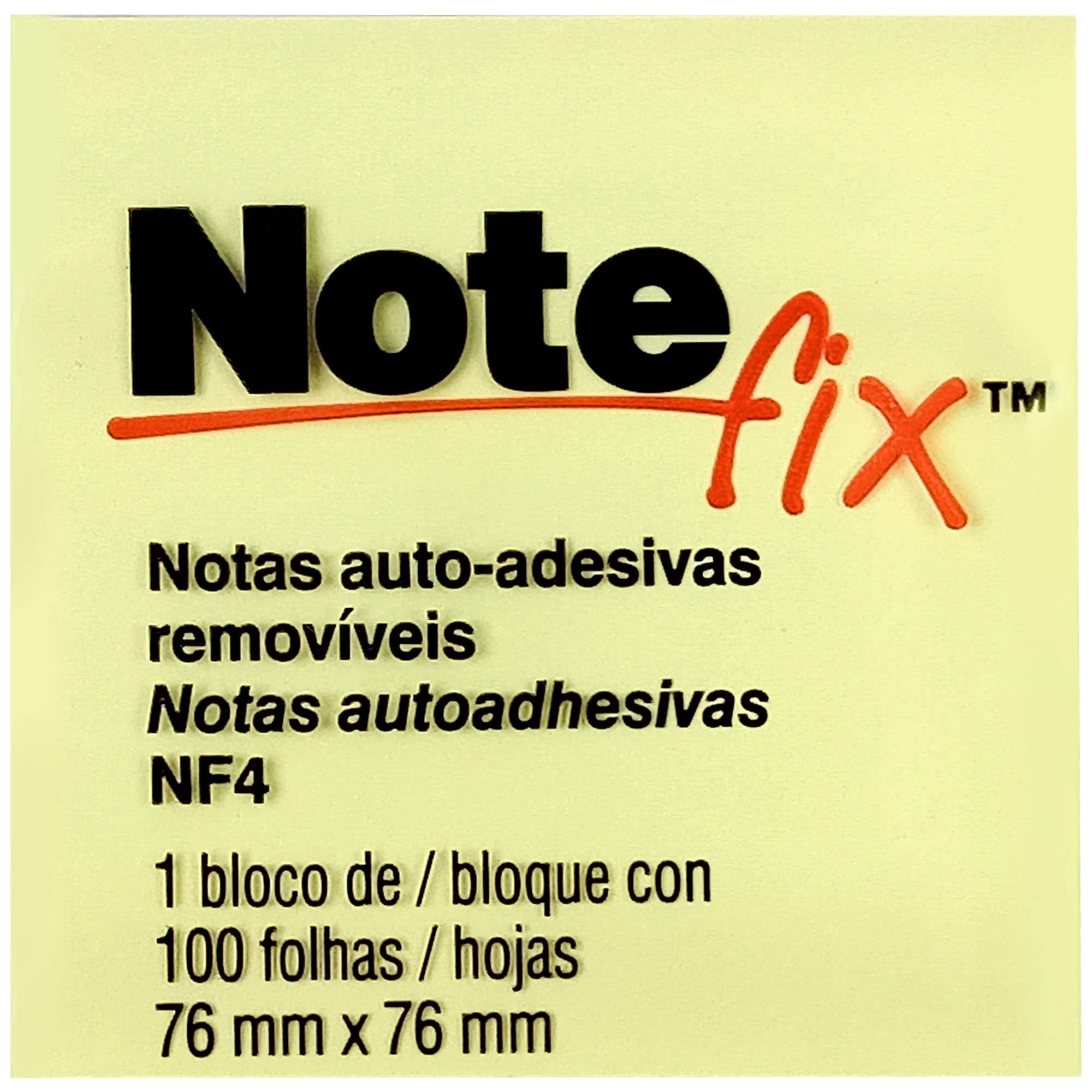 Bloco Autoadesivo Notefix 653 76mmX76mm 100F Cor Amarelo UN HB004088694 - 3M
