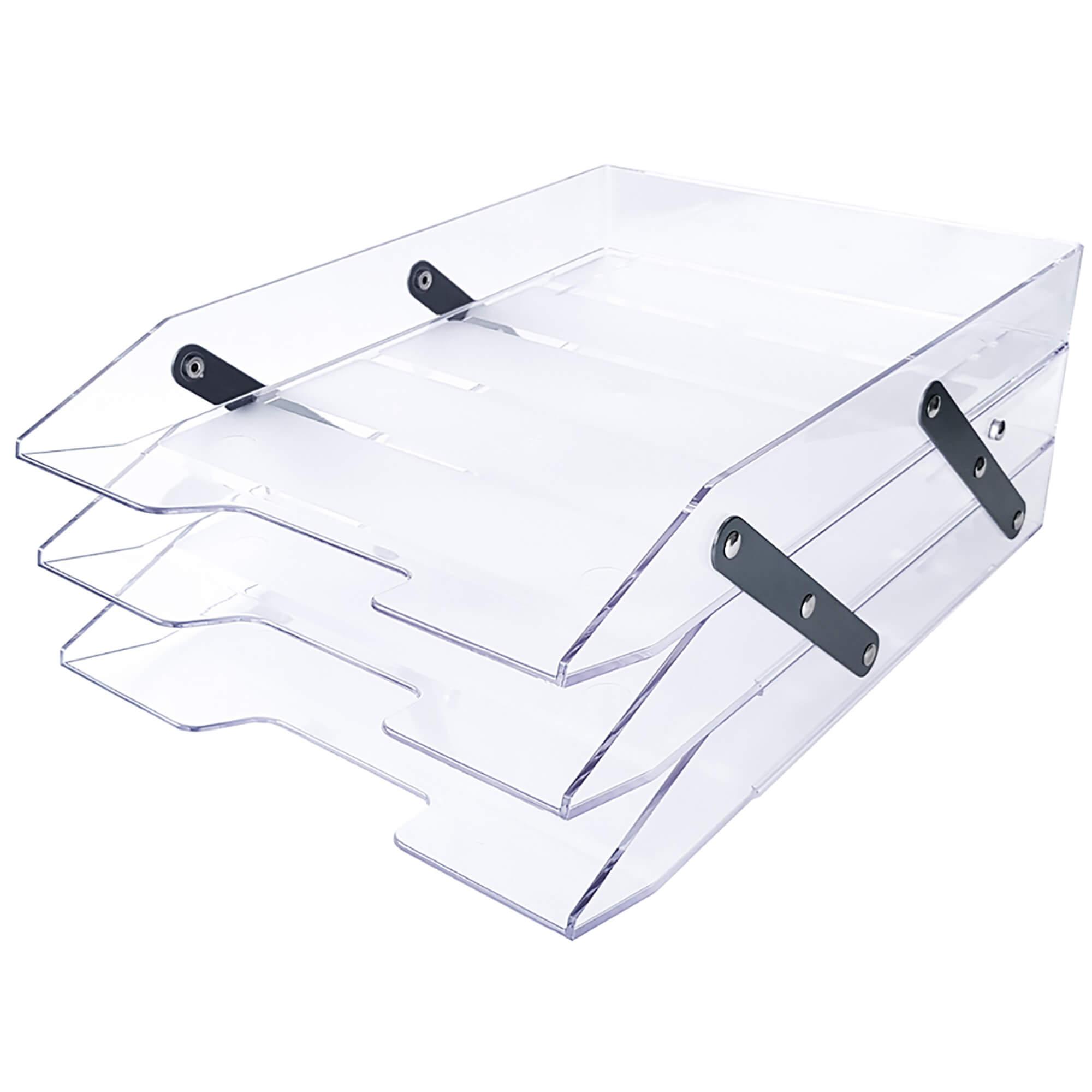 Caixa para Correspondencia Poliestireno Tripla Articulável Cristal 245.3 CX 1 UN - Acrimet