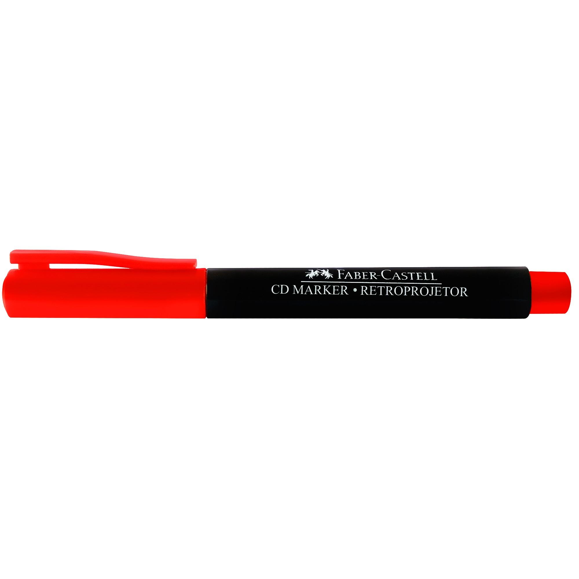 Caneta Retroprojetor 1.0MM Media Cor Vermelha CDRETRO/VMZF - Faber Castell