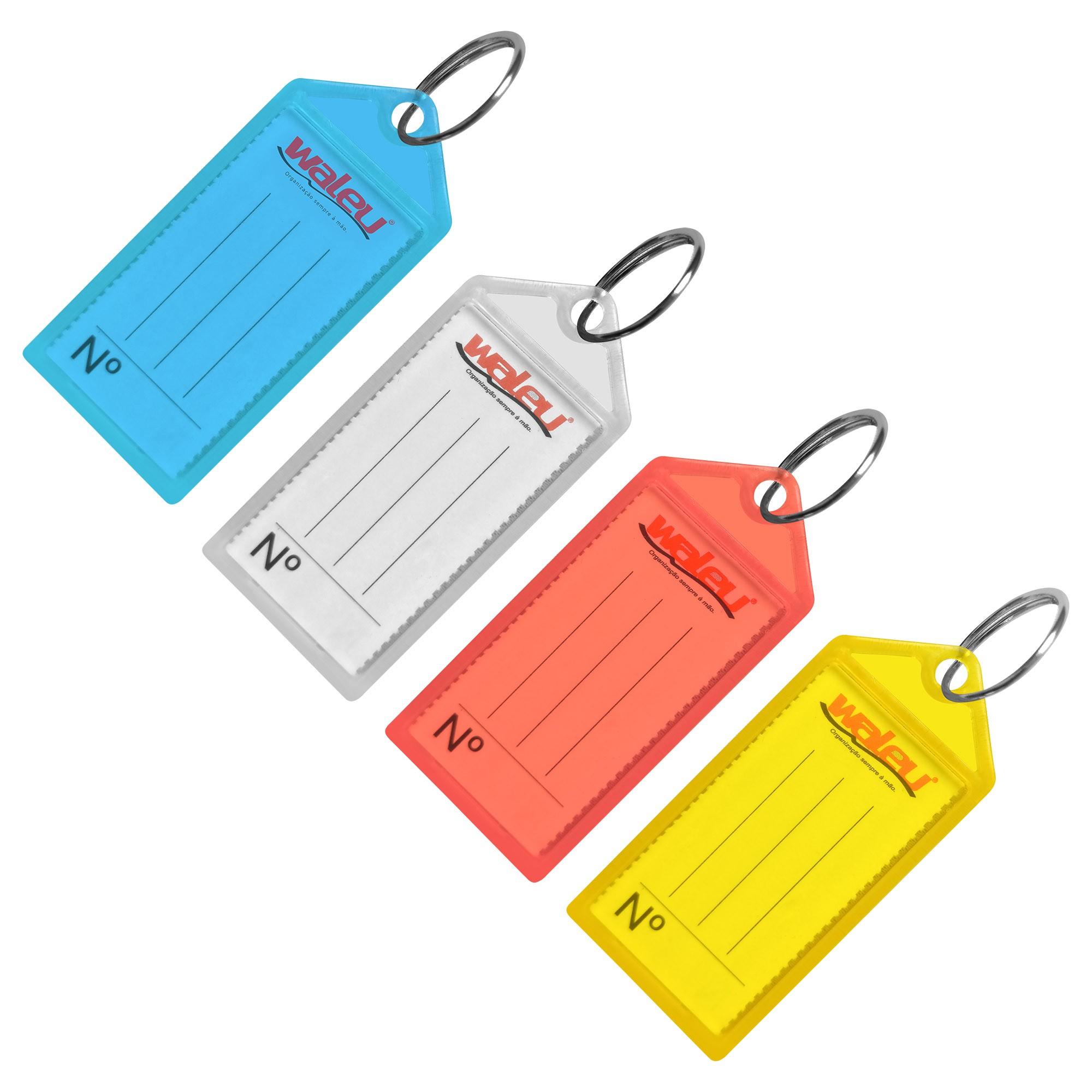 Chaveiro mais Etiqueta Diversas Cores 10180004 - Waleu