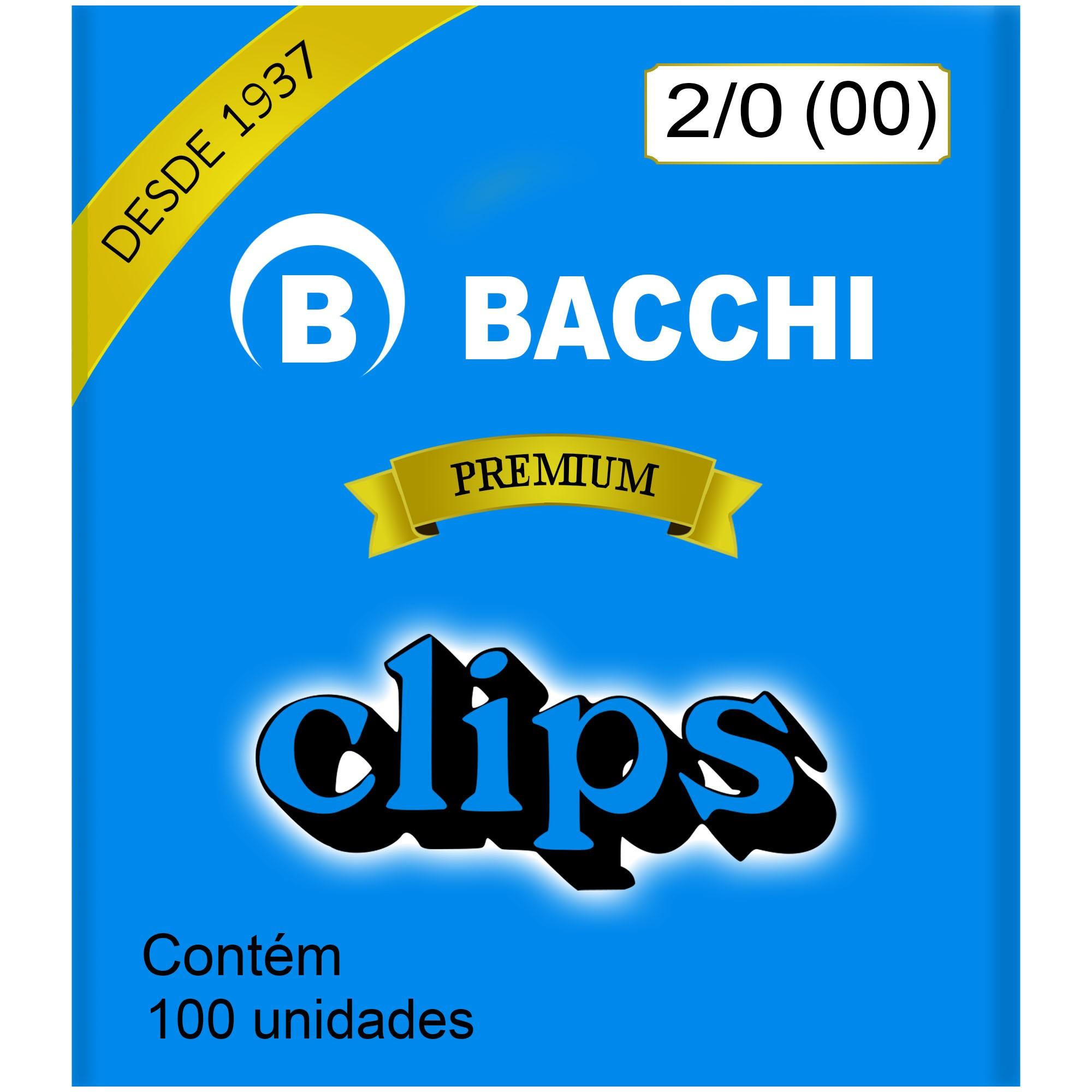Clips Galvanizado N. 00 (2/0) com 100 UN - Bacchi