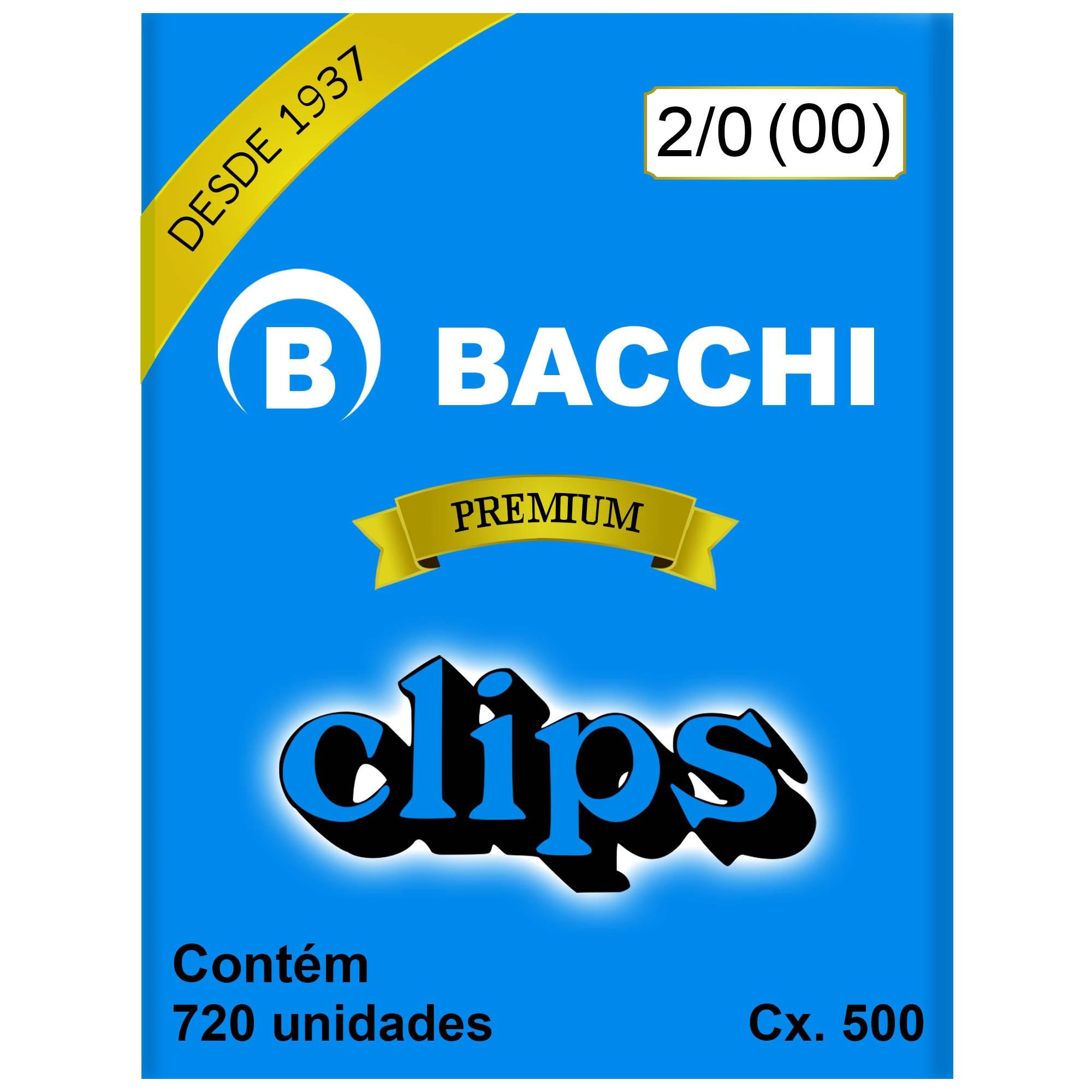 Clips Galvanizado N. 00 (2/0)  Cx 500g - Bacchi