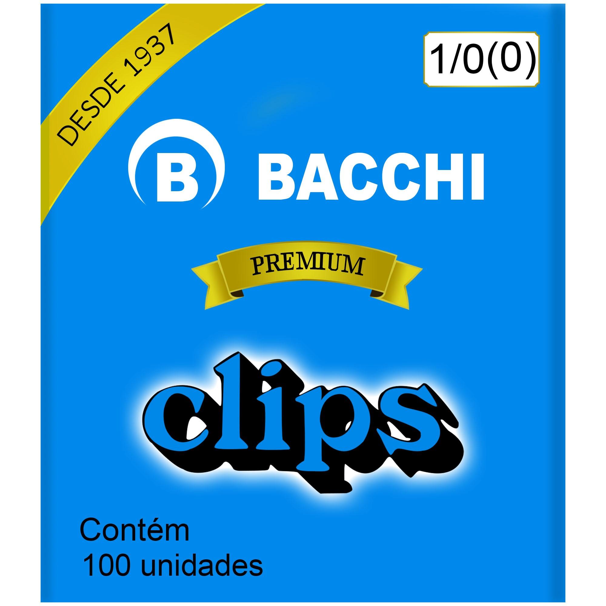 Clips Galvanizado N. 0 (1/0) com 100 UN - Bacchi