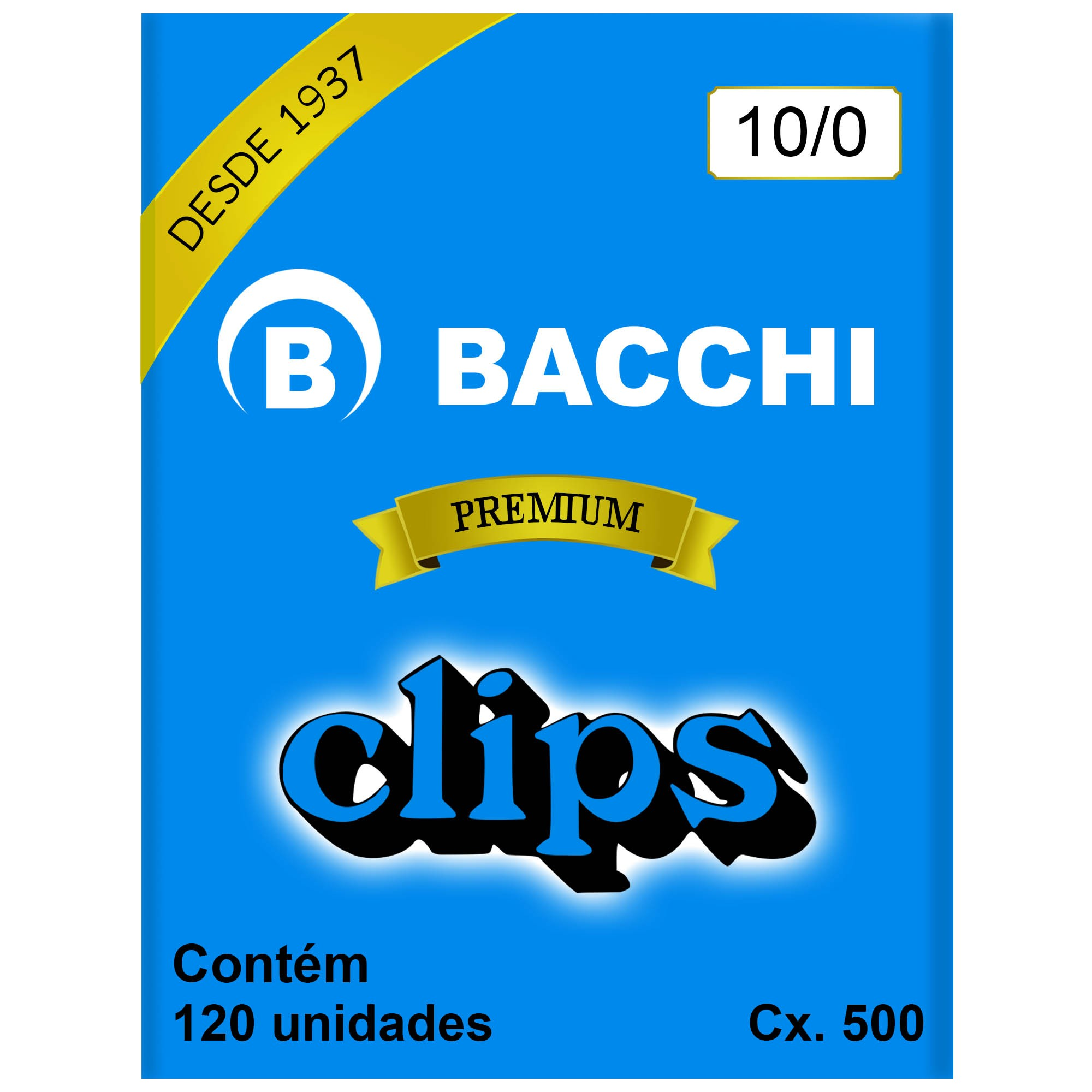 Clips Galvanizado N. 10/0 Cx 500g - Bacchi