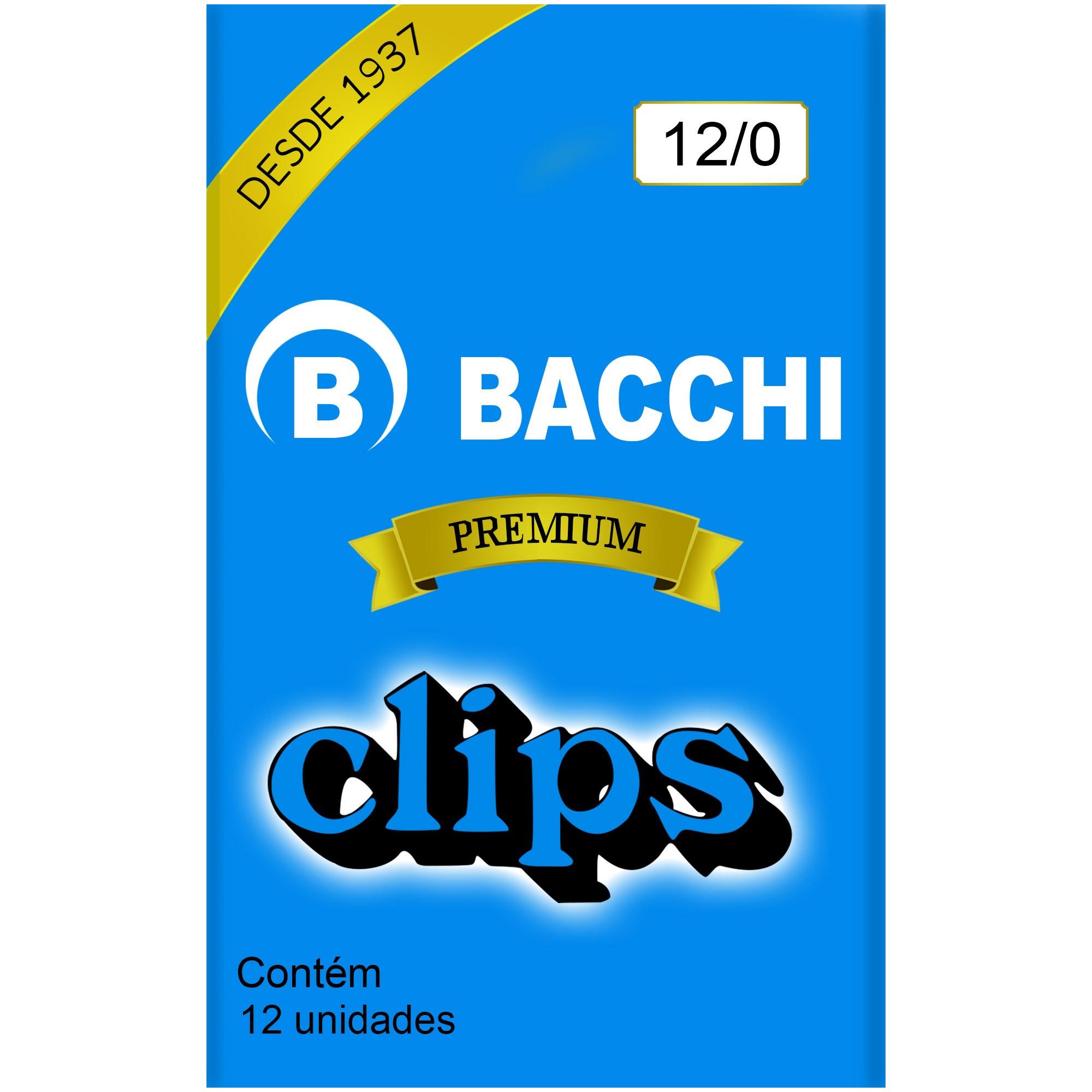 Clips Galvanizado N. 12/0 com 12 UN - Bacchi