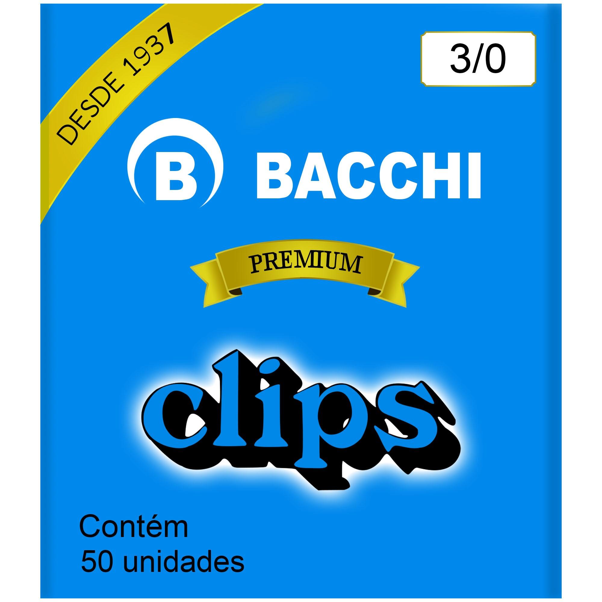 Clips Galvanizado N. 3/0 com 50 UN - Bacchi
