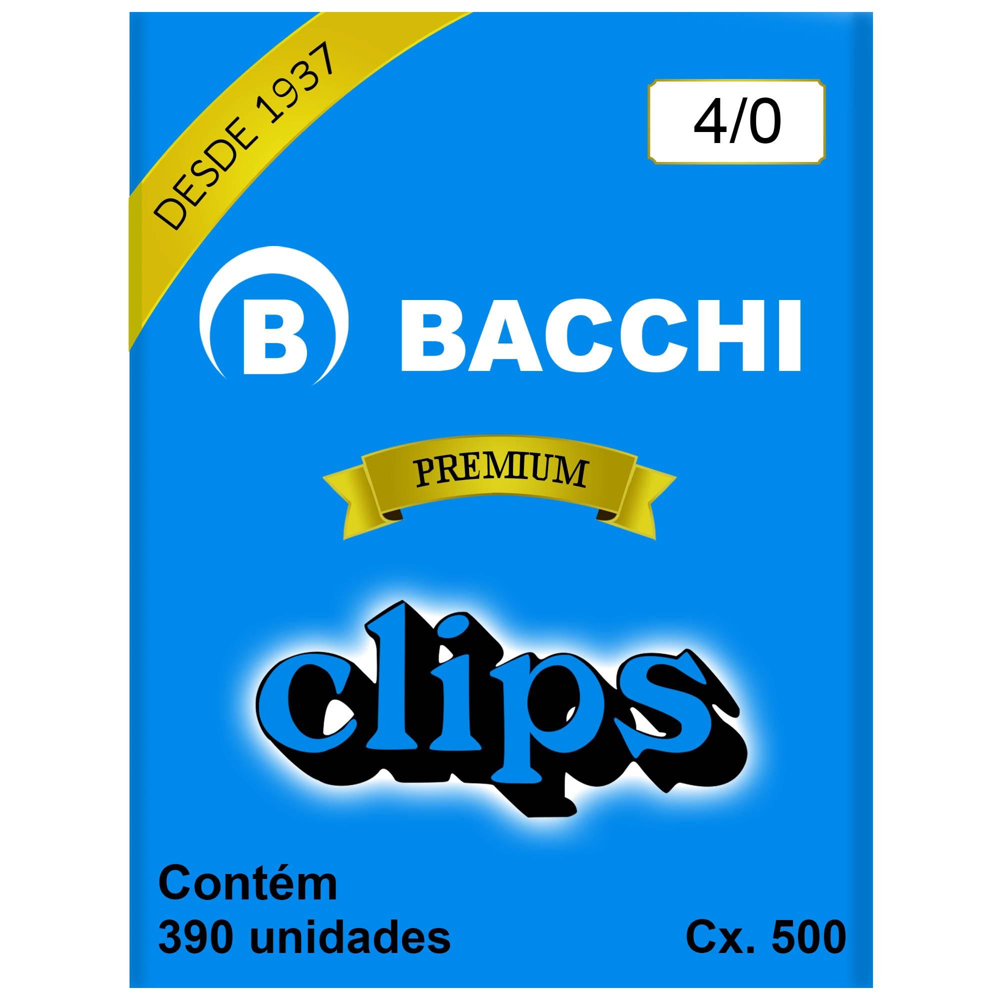 Clips Galvanizado N. 4/0 Cx 500g - Bacchi