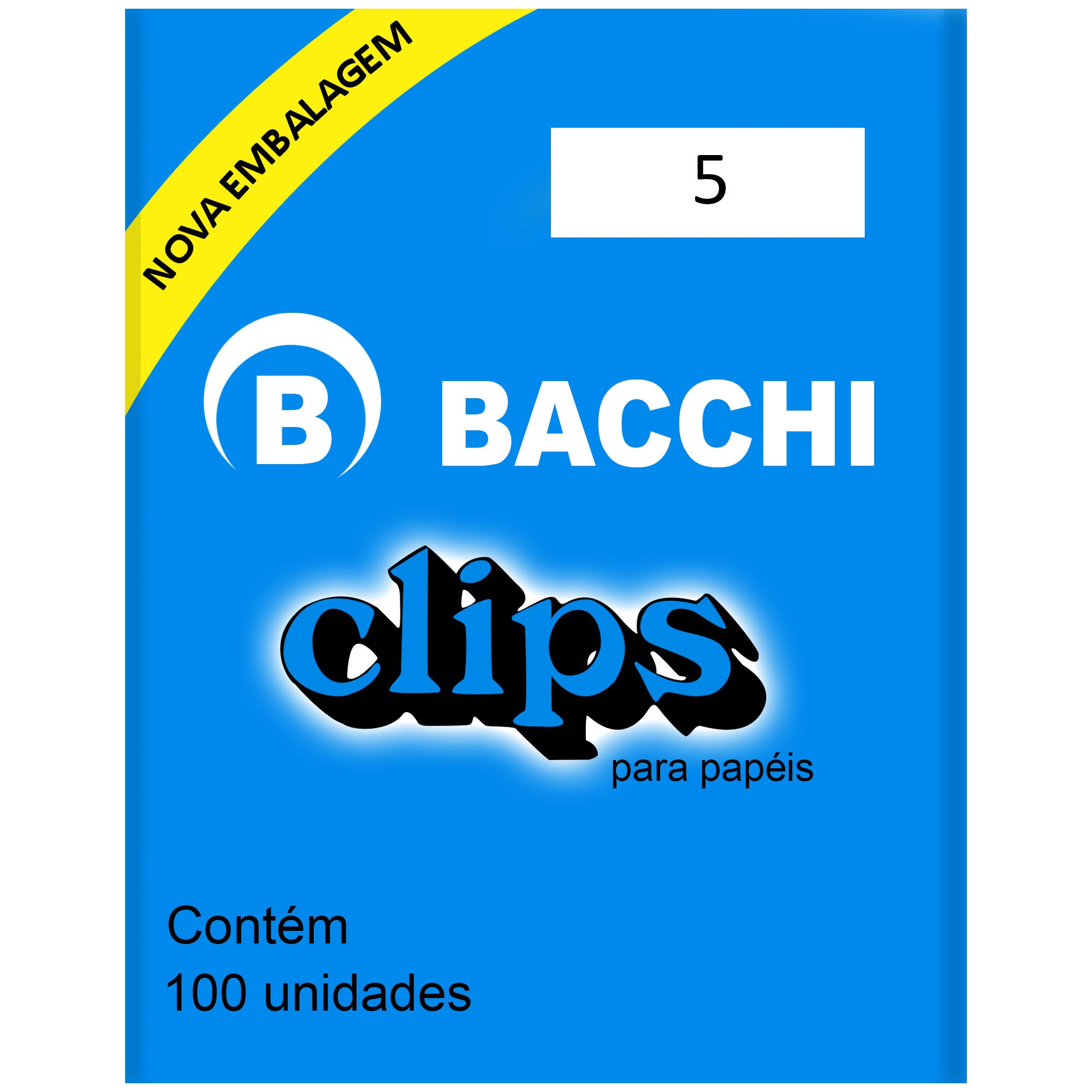 Clips Galvanizado N. 5 com 100 UN - Bacchi