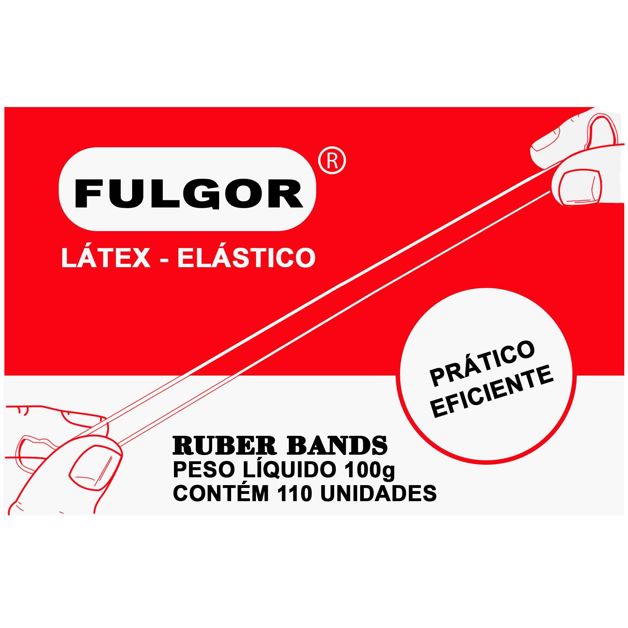 Elastico Amarelo Latex Fino Chines N.18 CX/100G CX 420 - FULGOR