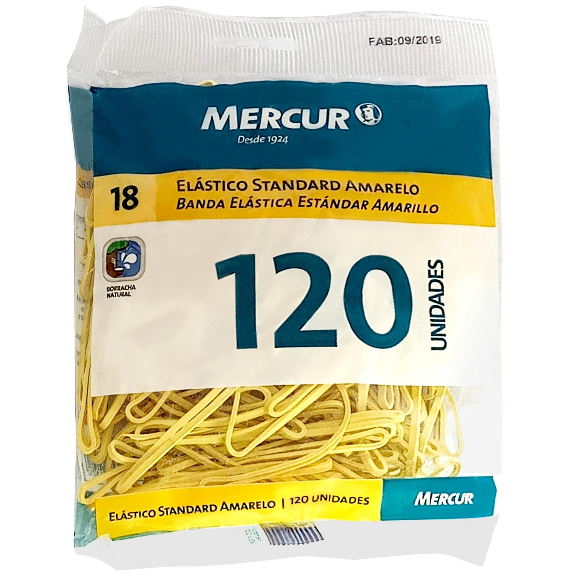 Elastico Amarelo N.18 Standart 120 PCS UNIDADE B05040318-07 - Mercur