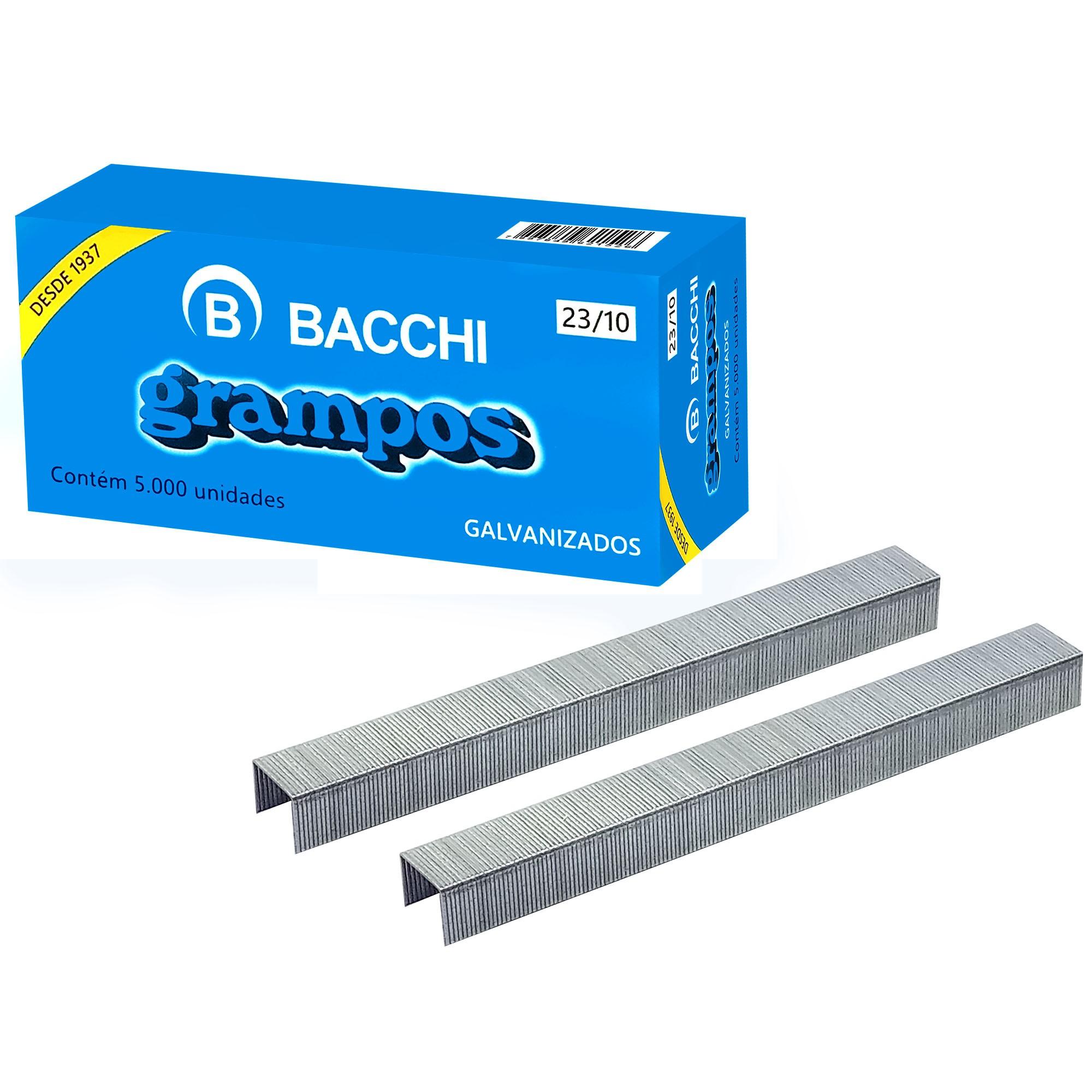 Grampo para Grampeador 23/10 Galvanizado 5000 Grampos CAIXA 22110 - Bacchi