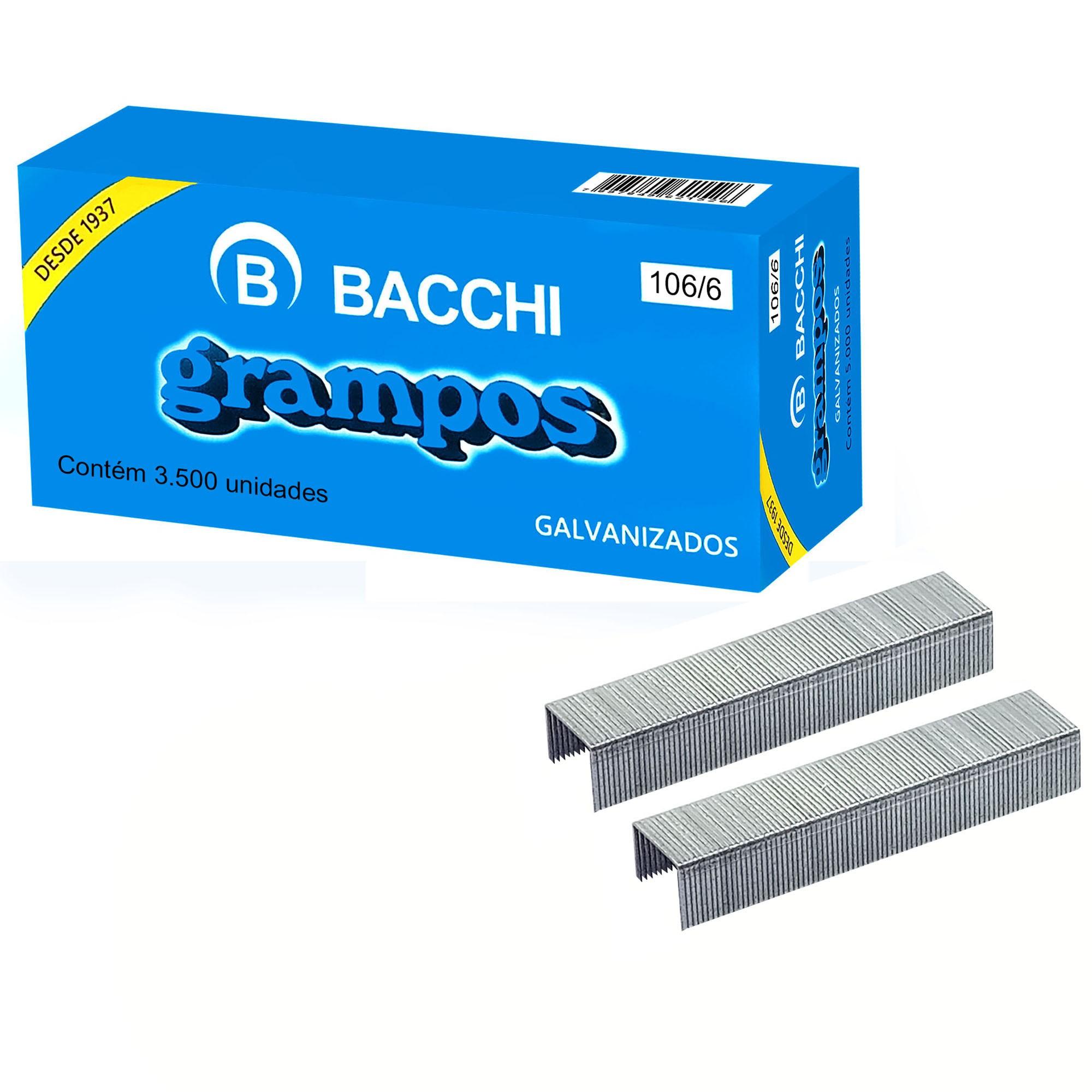 Grampo para Grampeador Rocama 106/6 c/ 3500 Grampos - Bacchi