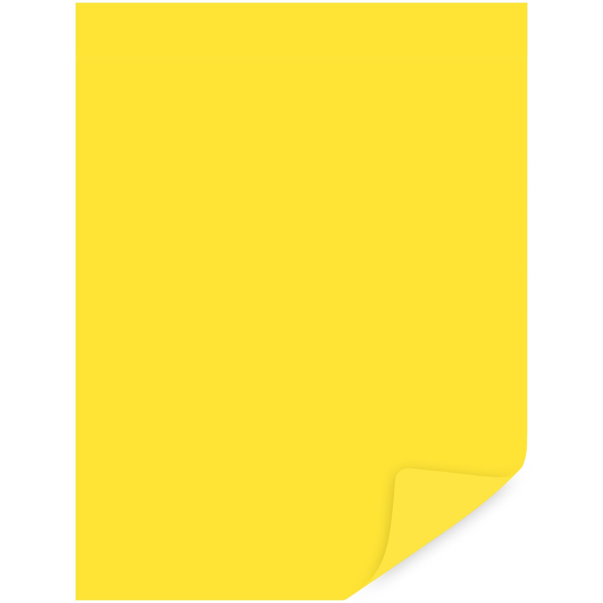 Papel Cartolina Amarela Escolar 50X66CM 120G 6092529 - Multiverde