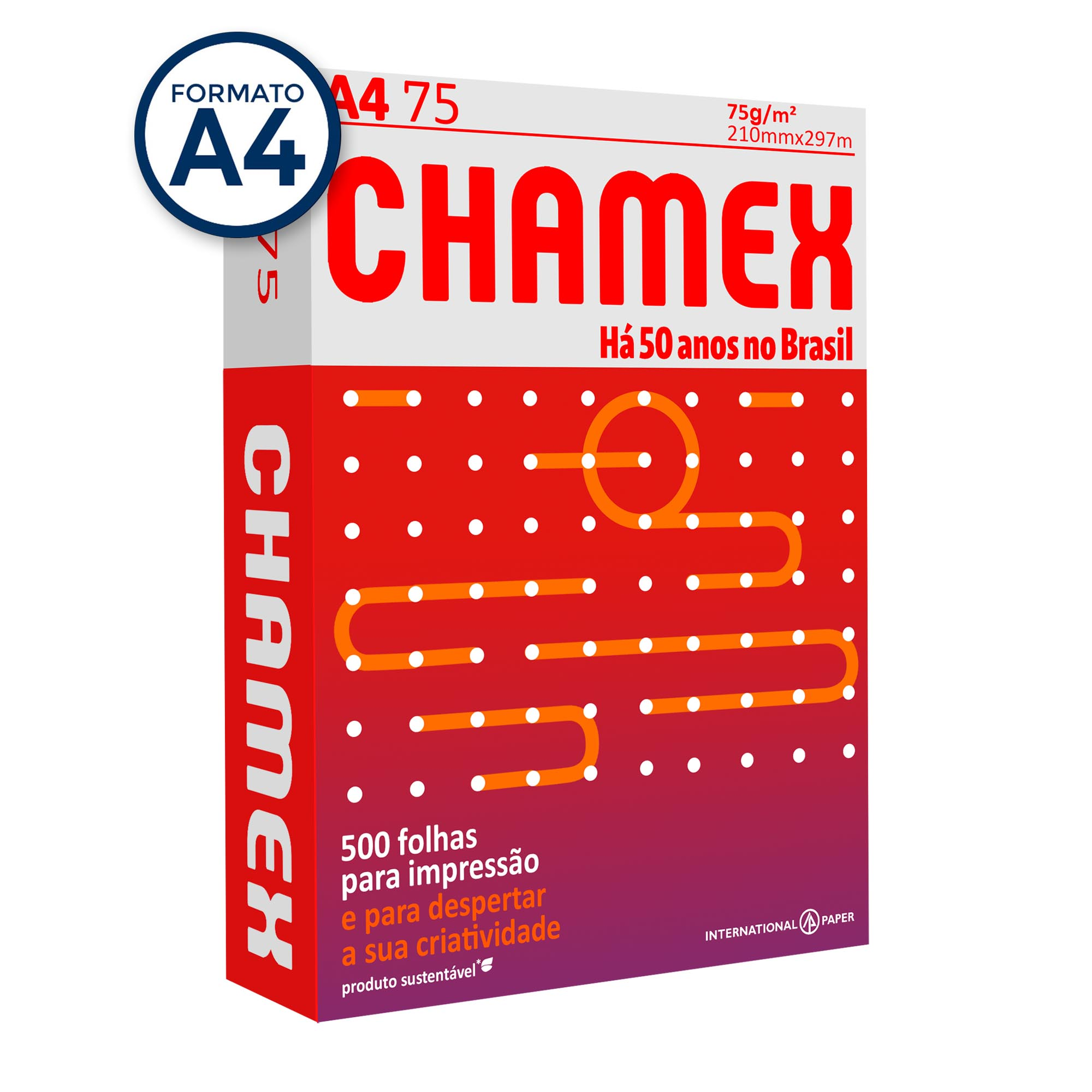 Papel Sulfite A4 75g Chamex PT 500 fls - Internacional Paper