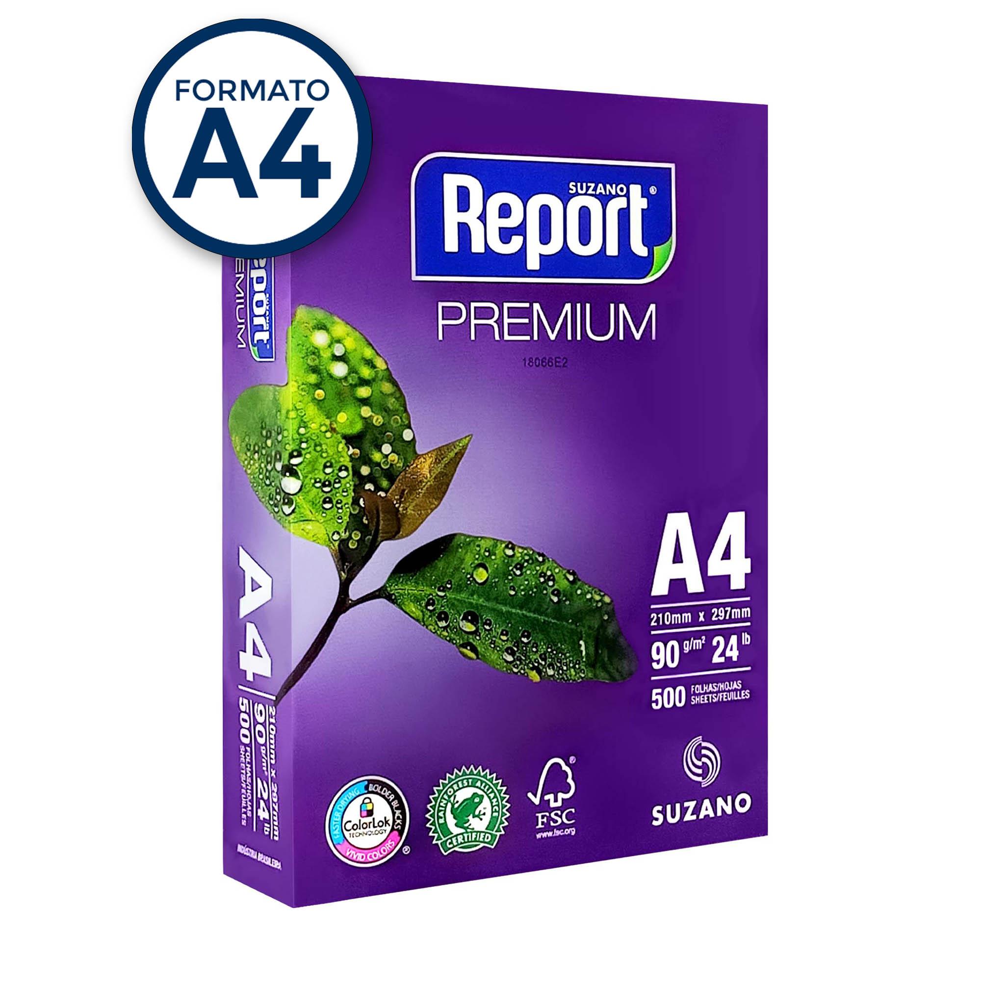 Papel Sulfite A4 90g Report Premium PT 500 fls - Suzano