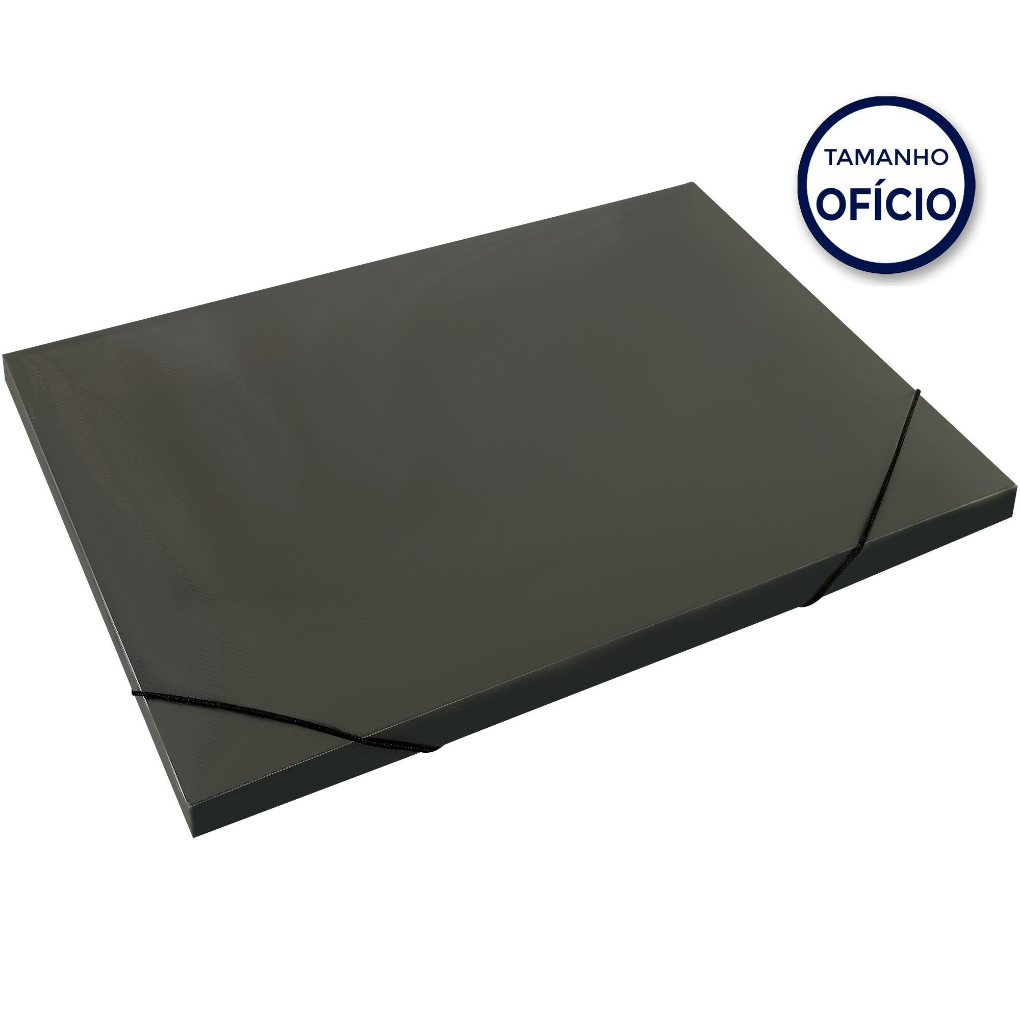 Pasta Aba Elastica Plastica Tam Oficio 18MM Cor Fume Soft 160316 - Polibras