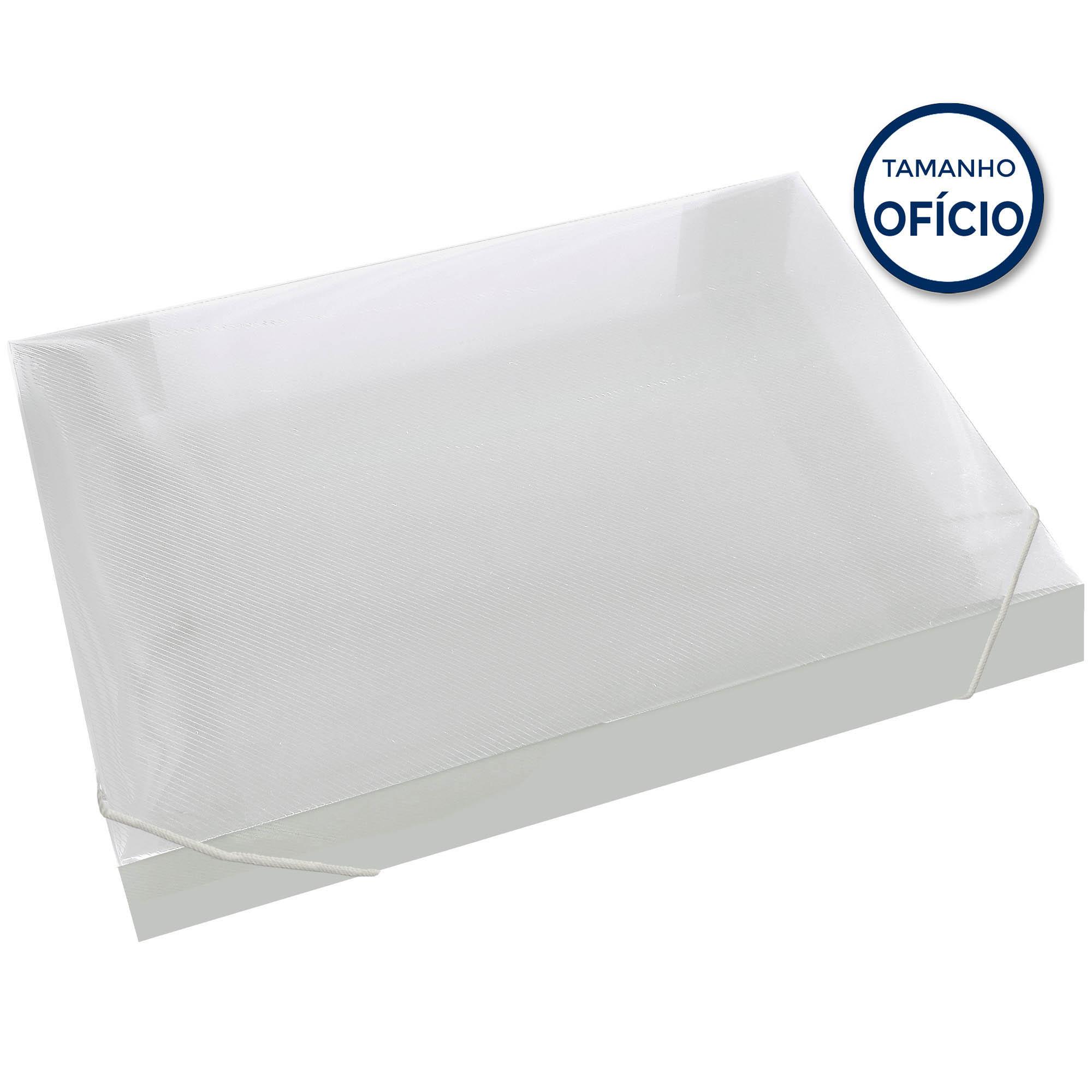 Pasta Escolar 55MM Soft Cor Cristal - Polibras