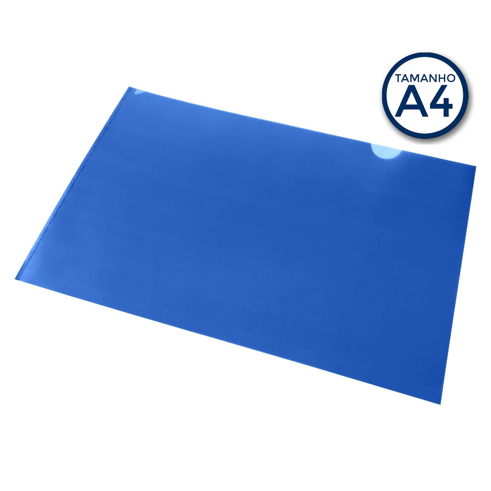 Pasta L A4 para apresentacao Cor Azul - Polibras