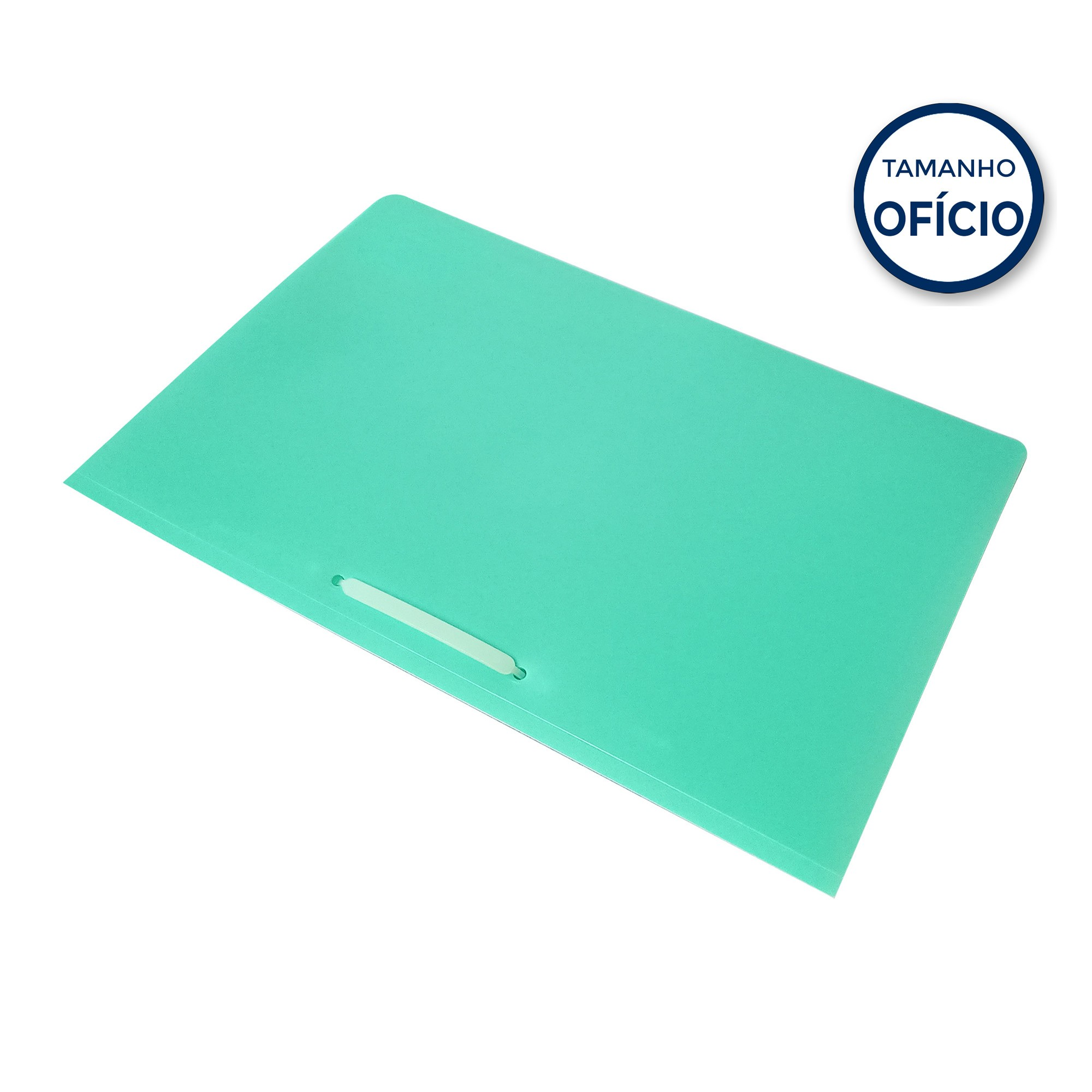 Pasta Oficio com Grampo Plastico Cor Verde Tam 240mm x 340mm- Acp