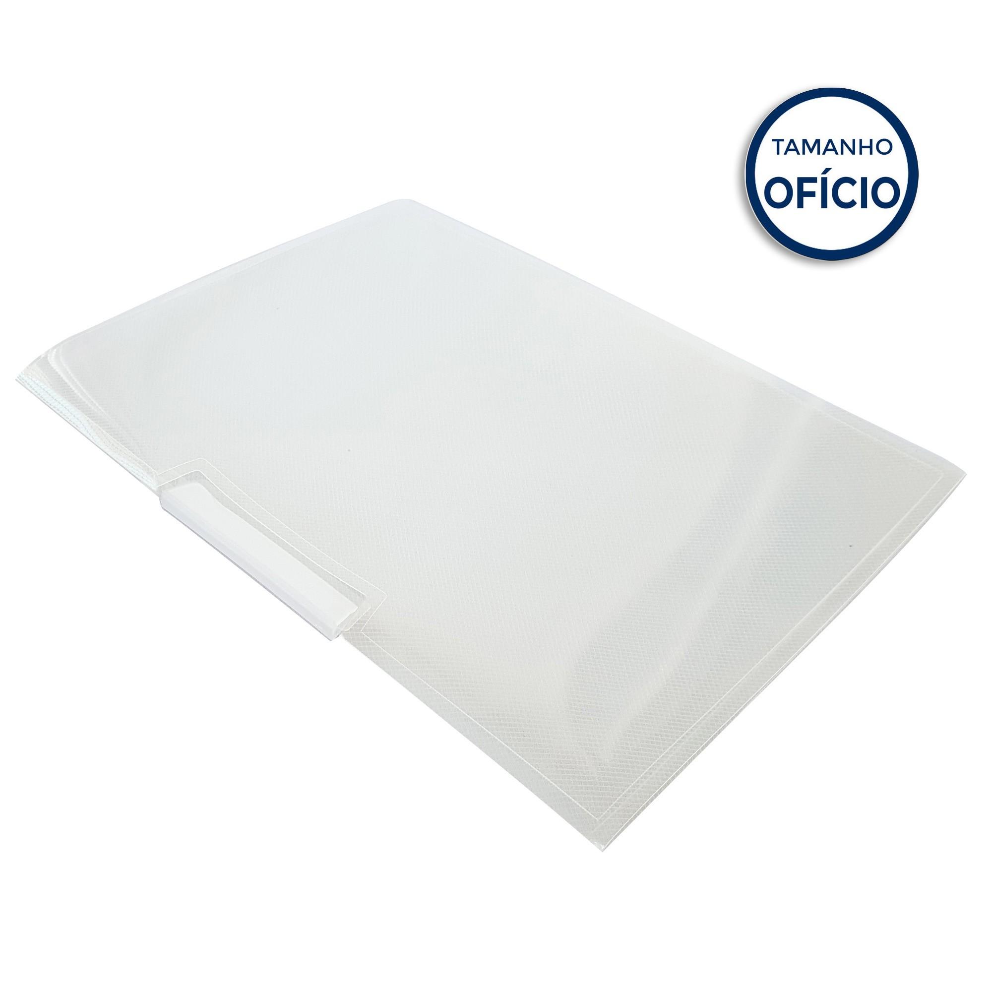 Pasta para Apresentacao Rotoclip New Line Plus Cor Cristal - Polibras