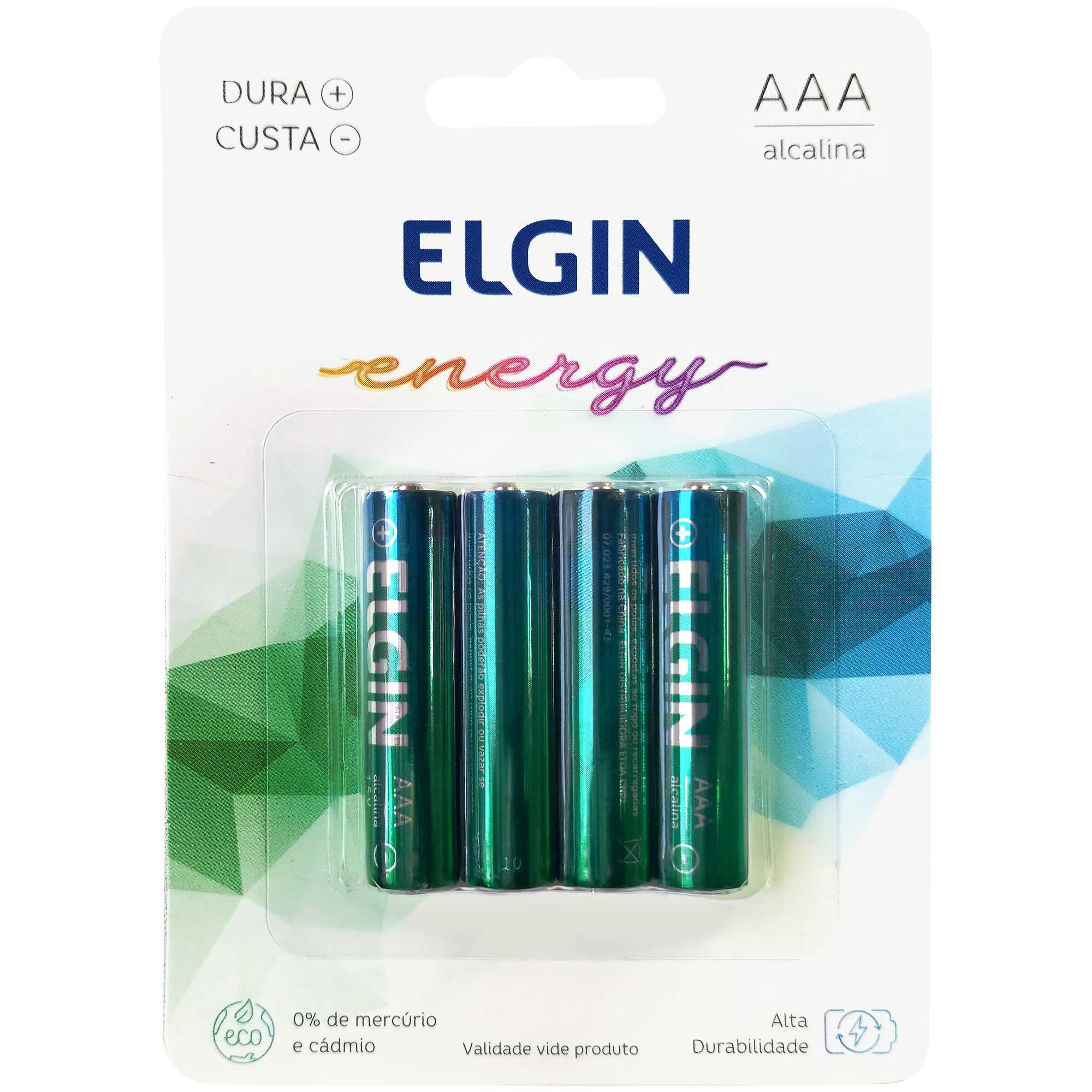 Pilha Alcalina Palito AAA Blister com 4un. 82155 - Elgin