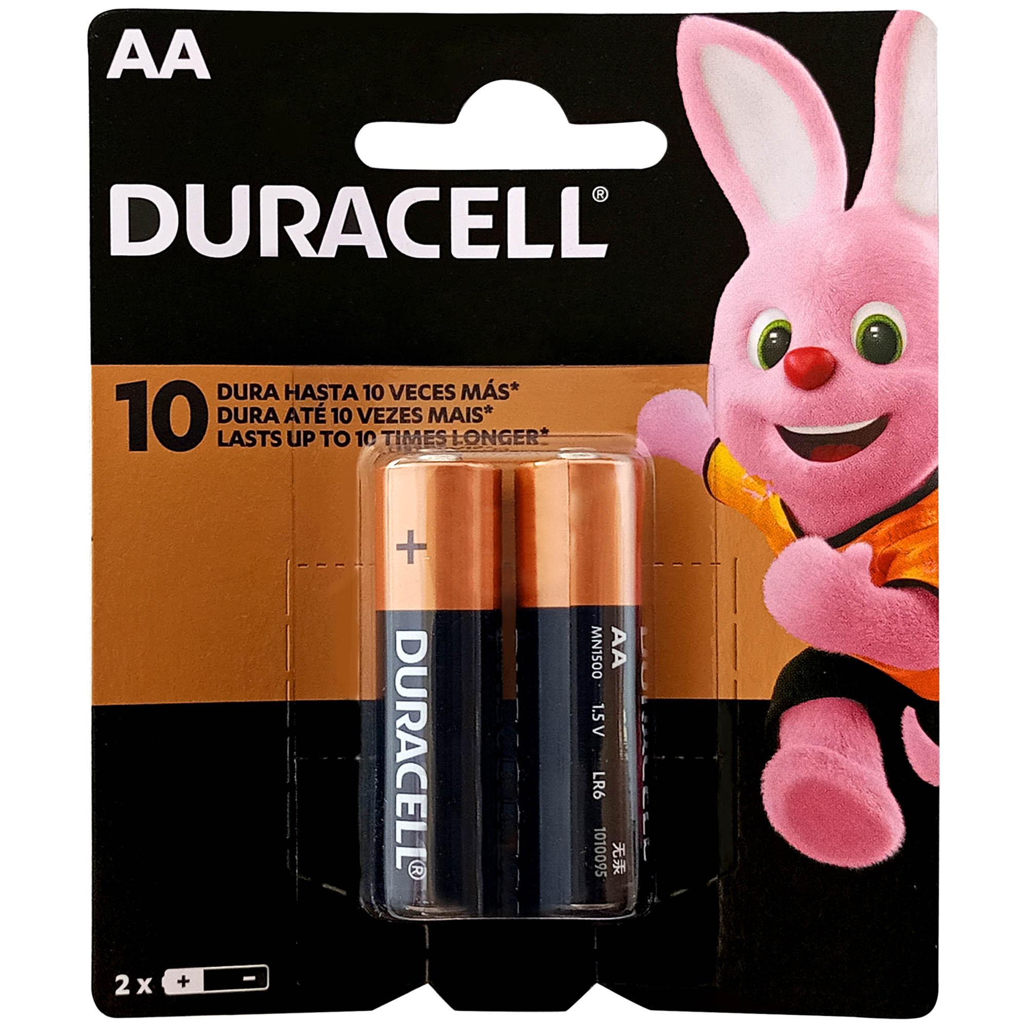 Pilha Alcalina Pequena AA Blister 2 UN - Duracell