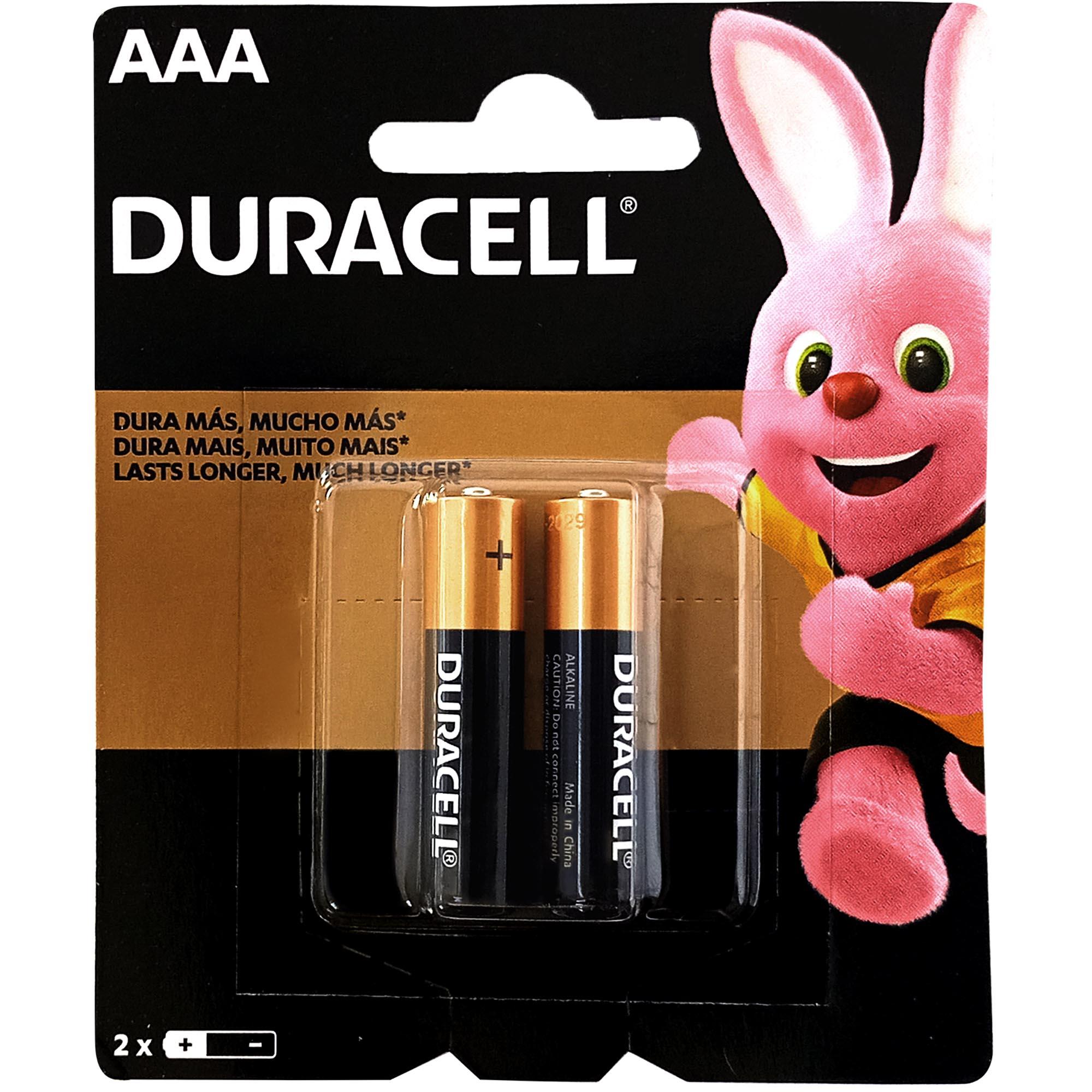 Pilha Alcalina Pequena AAA Blister 2 UN - Duracell