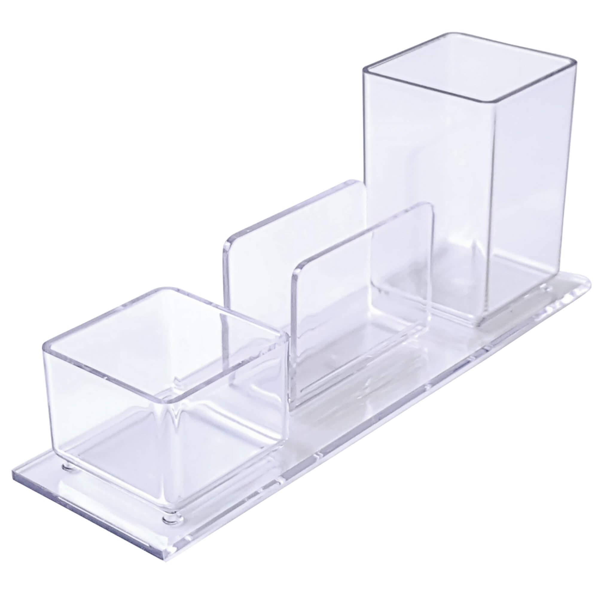 Porta lapis/clips/lembrete Poliestireno Cristal 940.3 CX 1 UN - Acrimet