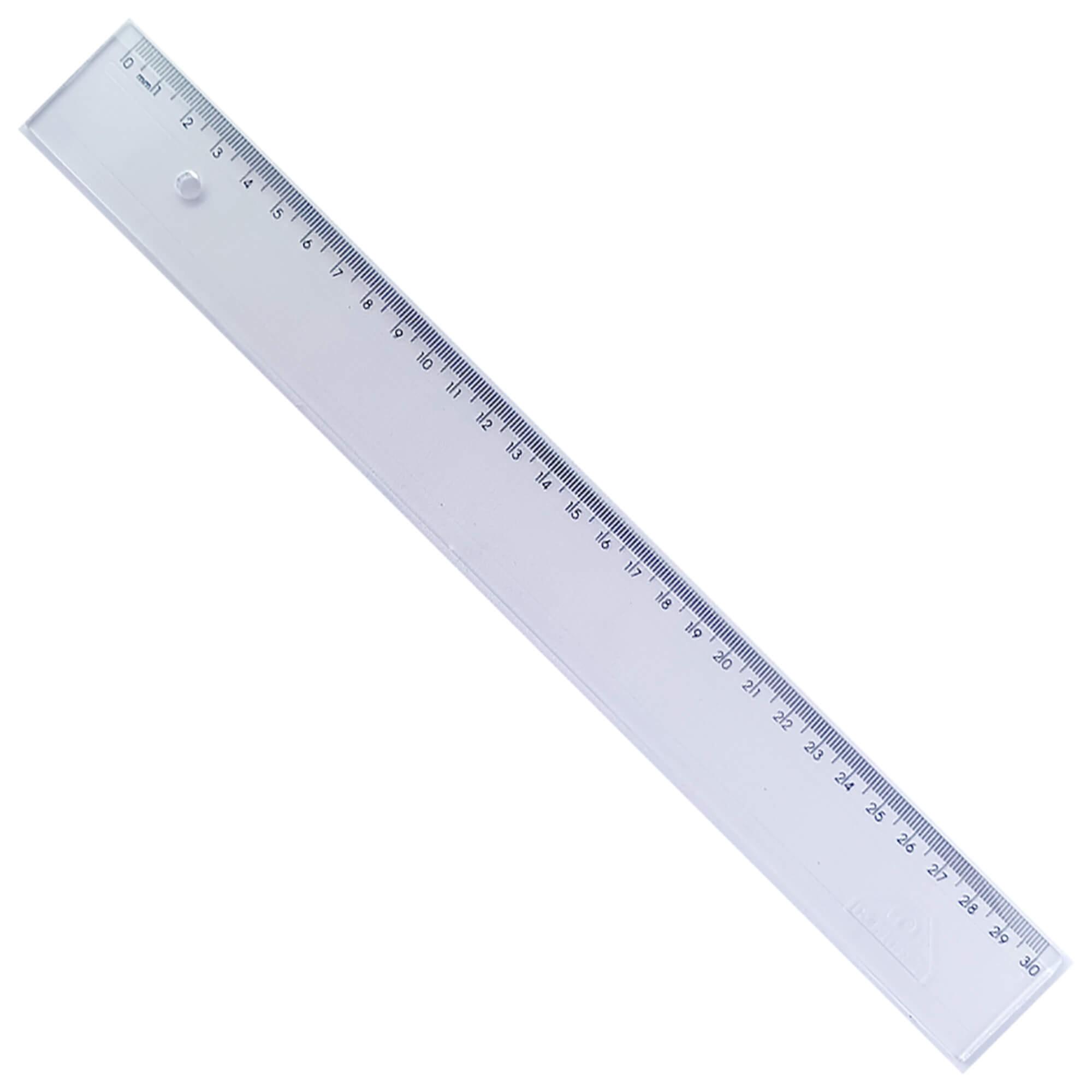 Regua em Poliestireno 30 cm Cristal 981.0  1 UN - Acrimet